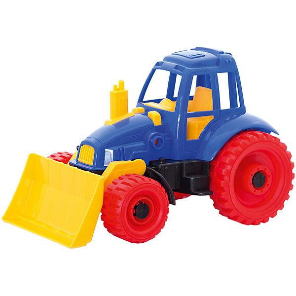 Трактор с грейдером, НордпластИграем в песочнице<br>Трактор с грейдером, Нордпласт – это пластмассовая машина, которой интересно будет играть вашему мальчику.<br>Надежный, крепкий и красочный трактор с грейдером и крутящимися колесами от компании Нордпласт отлично подойдет ребенку для различных игр дома, в детском саду или на прогулке. С помощью подвижного грейдера можно собирать песок и производить уборку песочницы или улиц. Кабина с сидением открытая, поэтому в ней можно разместить маленькую фигурку водителя. У трактора впереди - два маленьких, сзади - два больших колеса, которые никогда не увязнут в песке. На переднем и заднем бампере трактора расположены отверстия, к которым можно прикрепить прицеп или тросик для буксировки. Игрушка изготовлена из высококачественной пищевой пластмассы, без трещин и заусениц, поэтому во время эксплуатации выдержит многие детские шалости. Она покрыта нетоксичной краской, не облупливающейся и не выгорающей на солнце. Товар соответствует требованиям стандарта для детских игрушек и имеет сертификат качества.<br><br>Дополнительная информация:<br><br>- Материал: высококачественная пластмасса<br>- Размер: 17,5х16,5х27,5 см.<br>- Вес: 420 гр.<br><br>Трактор с грейдером, Нордпласт можно купить в нашем интернет-магазине.<br>Ширина мм: 280; Глубина мм: 170; Высота мм: 180; Вес г: 420; Возраст от месяцев: 24; Возраст до месяцев: 60; Пол: Мужской; Возраст: Детский; SKU: 4060316;