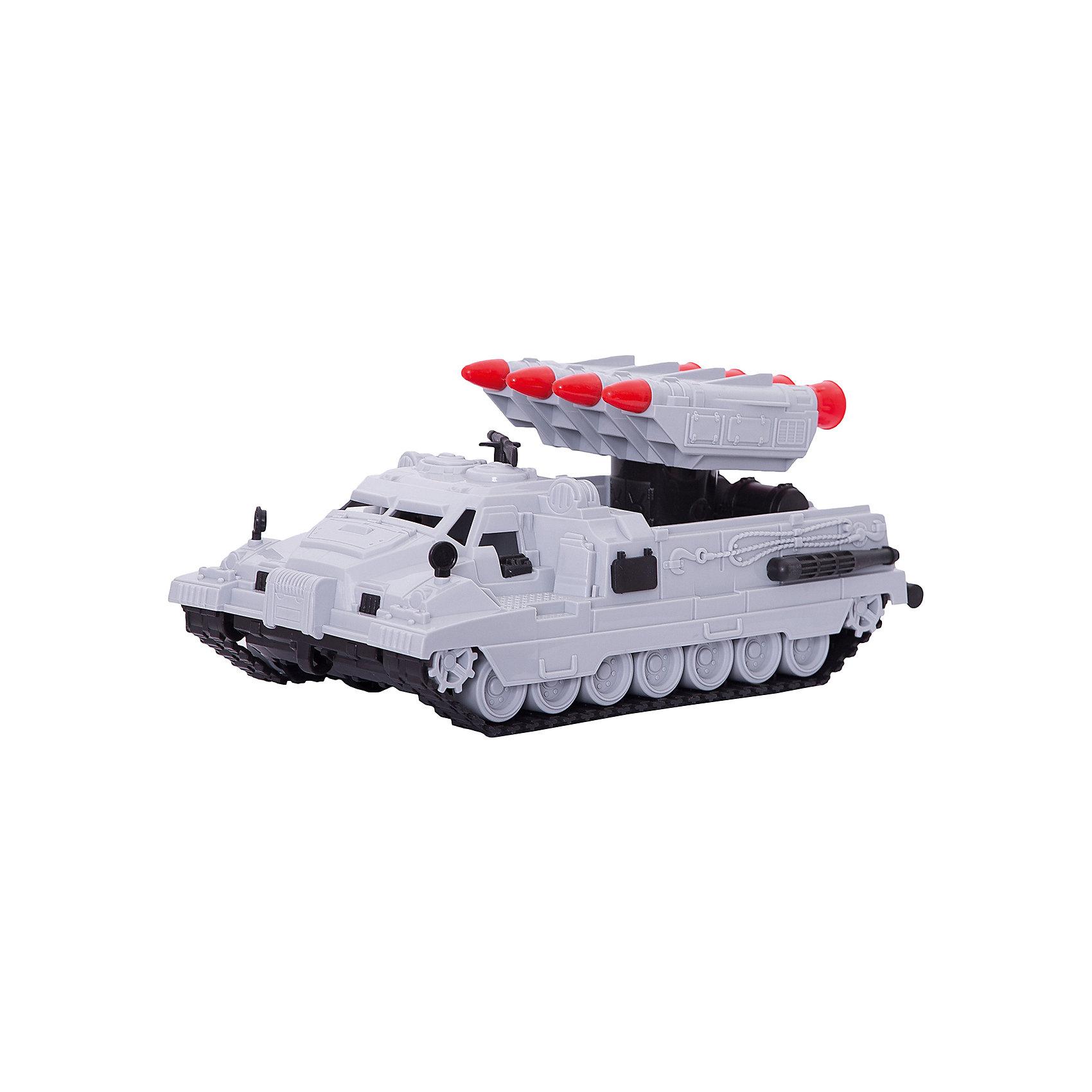 Ракетная установка Морпех, НордпластВоенный транспорт<br>Ракетная установка Морпех, Нордпласт – эта игрушка из военной серии отличный подарок для любого мальчугана!<br>Ракетная установка Морпех от компании «Нордпласт» выглядит совсем как настоящая. Игрушка отличается особым вниманием к деталям – каждая мелочь, отлита с особой тщательностью. Машина имеет 4 ракеты (ракеты не запускаются), которые собраны в единый блок, вращающийся вокруг оси, поднимающийся вверх и опускающийся вниз. Скрытые колеса с гусеницей смогут преодолеть любое бездорожье! Машина отлично подойдет для игры дома или в песочнице. Игрушка изготовлена из высококачественной пищевой пластмассы, без трещин и заусениц, поэтому во время эксплуатации выдержит многие детские шалости. Она покрыта нетоксичной краской, не облупливающейся и не выгорающей на солнце.<br><br>Дополнительная информация:<br><br>- Материал: высококачественная пластмасса<br>- Цвет: серый<br>- Размер игрушки: 31х16х13 см.<br>- Вес: 460 гр.<br><br>Ракетную установку Морпех, Нордпласт можно купить в нашем интернет-магазине.<br><br>Ширина мм: 310<br>Глубина мм: 160<br>Высота мм: 130<br>Вес г: 460<br>Возраст от месяцев: 24<br>Возраст до месяцев: 60<br>Пол: Мужской<br>Возраст: Детский<br>SKU: 4060318