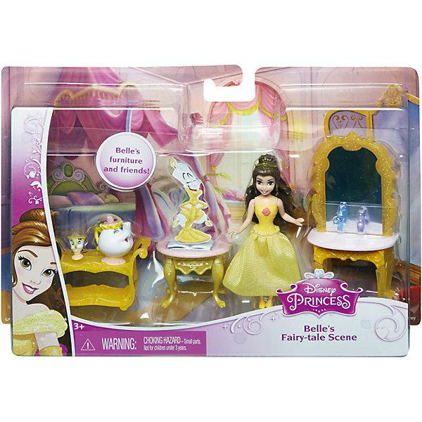 Кукла Белль с аксессуарами, Принцессы ДиснейИгрушки<br>Кукла Белль с аксессуарами, Disney Princess – это отличный подарок для вашей девочки!<br>Набор с мини-куклой придется по вкусу маленьким принцессам. В комплекте любимая героиня, набор мебели и ее верные друзья. Кукла в точности повторяет внешность героини мультфильма Красавица и чудовище. У куклы двигаются руки, ноги, голова.<br><br>Дополнительная информация:<br><br>- В наборе: мини-куколка Белль, ее друзья (миссис Поттс и Чип), туалетный столик, тележка, журнальный столик, аксессуары<br>- Материал: высококачественный пластик<br>- Высота куклы: 9 см.<br>- Размер упаковки: 250x50x170 мм.<br>- Вес: 300 гр.<br><br>Куклу Белль с аксессуарами, Disney Princess можно купить в нашем интернет-магазине.<br><br>Ширина мм: 250<br>Глубина мм: 50<br>Высота мм: 170<br>Вес г: 300<br>Возраст от месяцев: 36<br>Возраст до месяцев: 108<br>Пол: Женский<br>Возраст: Детский<br>SKU: 4060352