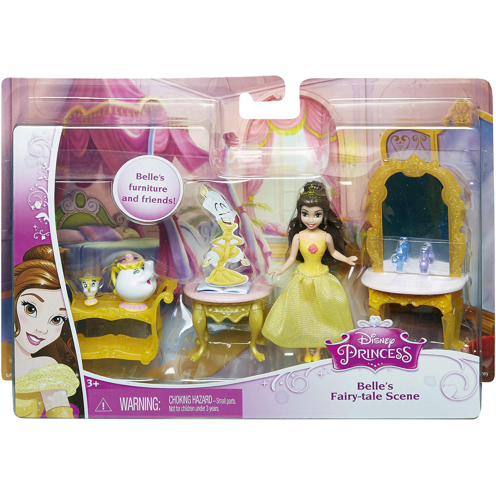 Кукла Белль с аксессуарами, Принцессы ДиснейКукла Белль с аксессуарами, Disney Princess – это отличный подарок для вашей девочки!<br>Набор с мини-куклой придется по вкусу маленьким принцессам. В комплекте любимая героиня, набор мебели и ее верные друзья. Кукла в точности повторяет внешность героини мультфильма Красавица и чудовище. У куклы двигаются руки, ноги, голова.<br><br>Дополнительная информация:<br><br>- В наборе: мини-куколка Белль, ее друзья (миссис Поттс и Чип), туалетный столик, тележка, журнальный столик, аксессуары<br>- Материал: высококачественный пластик<br>- Высота куклы: 9 см.<br>- Размер упаковки: 250x50x170 мм.<br>- Вес: 300 гр.<br><br>Куклу Белль с аксессуарами, Disney Princess можно купить в нашем интернет-магазине.<br><br>Ширина мм: 250<br>Глубина мм: 50<br>Высота мм: 170<br>Вес г: 300<br>Возраст от месяцев: 36<br>Возраст до месяцев: 108<br>Пол: Женский<br>Возраст: Детский<br>SKU: 4060352