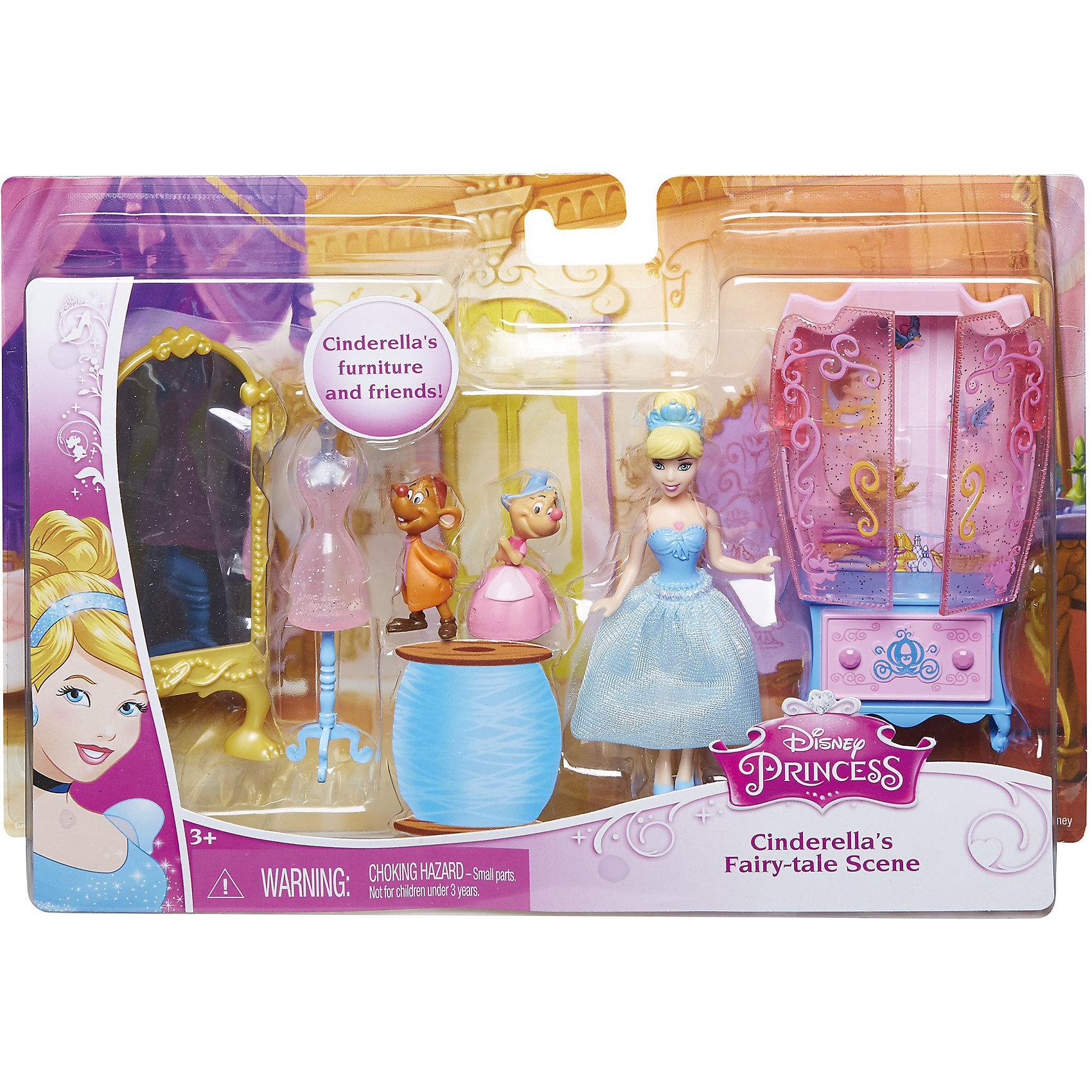Кукла Золушка с аксессуарами, Принцессы ДиснейИгрушки<br>Кукла Золушка с аксессуарами, Disney Princess – это отличный подарок для вашей девочки!<br>Набор с мини-куклой придется по вкусу маленьким принцессам. В комплекте любимая героиня, набор мебели и ее верные друзья. Кукла в точности повторяет внешность героини мультфильма Золушка. У куклы двигаются руки, ноги, голова.<br><br>Дополнительная информация:<br><br>- В наборе: мини-кукла Золушка, 2 фигурки мышат, аксессуары для игры<br>- Материал: высококачественный пластик<br>- Высота куклы: 9 см.<br>- Размер упаковки: 250x50x170 мм.<br>- Вес: 300 гр.<br><br>Куклу Золушка с аксессуарами, Disney Princess можно купить в нашем интернет-магазине.<br><br>Ширина мм: 250<br>Глубина мм: 50<br>Высота мм: 170<br>Вес г: 300<br>Возраст от месяцев: 36<br>Возраст до месяцев: 108<br>Пол: Женский<br>Возраст: Детский<br>SKU: 4060353