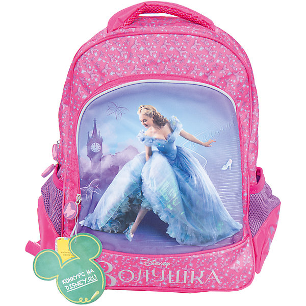 Ортопедический рюкзак ЗолушкаПринцессы Дисней<br>Мягкий ортопедический рюкзак Золушка, Disney - удобный и практичный школьный рюкзак для повседневного использования. Рюкзак выполнен из износоустойчивых материалов с водонепроницаемой основой. Маленькой школьнице непременно понравится привлекательный дизайн с красивой розовой расцветкой, узором в виде бабочек и изображением популярной героини из диснеевской сказки. Рюкзак имеет легкий вес, ортопедическая спинка из дышащего материала равномерно распределяет нагрузку на плечевые суставы и спину. Широкие мягкие лямки регулируются по длине, в зависимости от роста ребенка. Также есть удобная мягкая ручка для переноски в руке. <br><br>Рюкзак закрывается на застежку-молнию, внутри два больших отделения с отсеками для книг и тетрадей и задняя плюшевая стенка, которая предохраняет размещенный в рюкзаке гаджет от царапин. Также имеются два сетчатых кармана по бокам и большой накладной карман на молнии на лицевой стороне. Светоотражающие элементы на лямках и лицевом кармане повышают безопасность ребенка в темноте.<br><br>Дополнительная информация:<br><br>- Материал: полиэстер.  <br>- Размер: 38 х 28 х 13 см.<br>- Вес: 0,99 кг.<br><br>Мягкий ортопедический рюкзак Золушка, Disney, можно купить в нашем интернет-магазине.<br>Ширина мм: 280; Глубина мм: 130; Высота мм: 380; Вес г: 990; Возраст от месяцев: 72; Возраст до месяцев: 96; Пол: Женский; Возраст: Детский; SKU: 4062805;