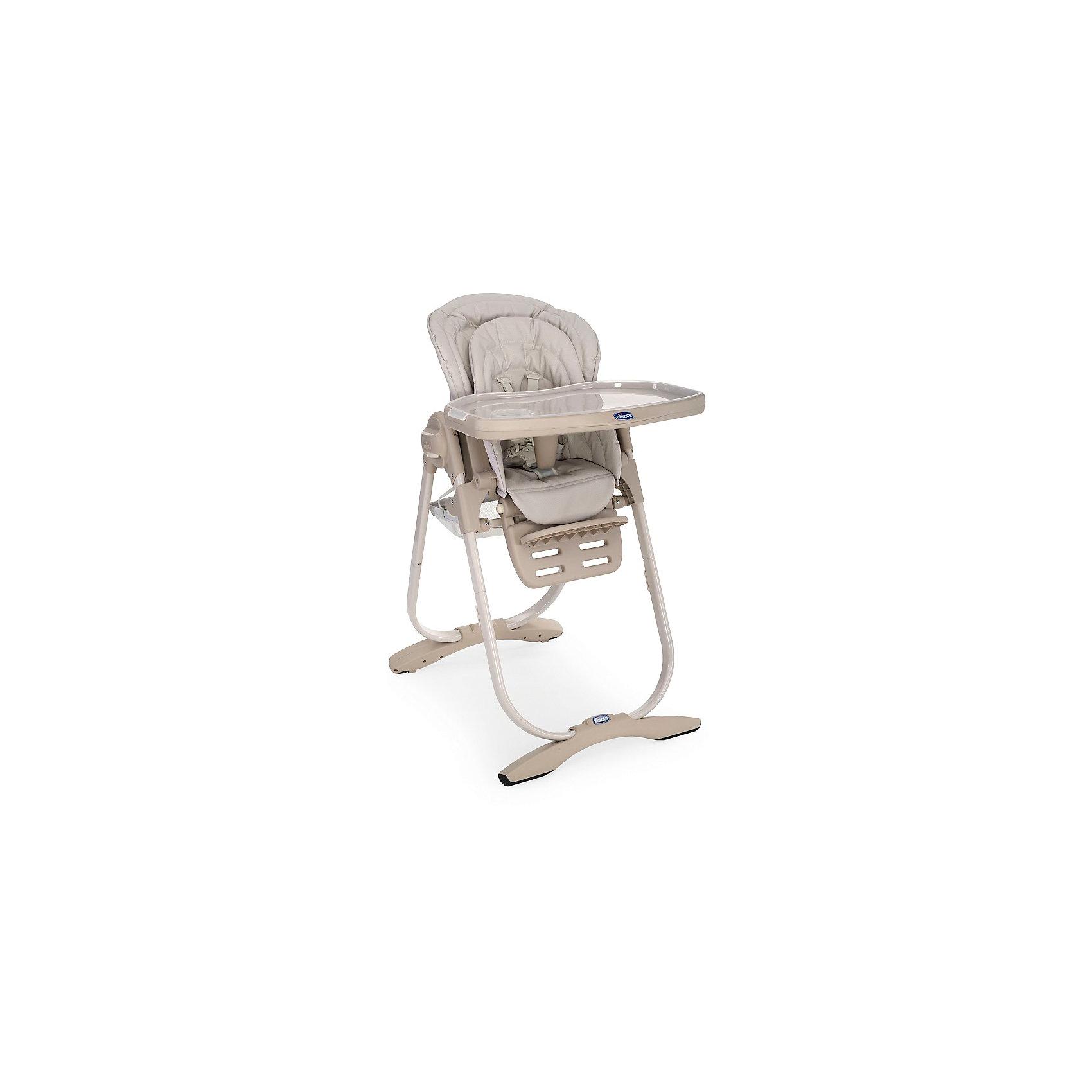 Стульчик для кормления Polly Magic Mirage, Chiccoот рождения<br>Стульчик для кормления Polly Magic Mirage, Chicco (Чико), обеспечит комфорт и безопасность Вашего малыша во время кормления. Спинка сиденья регулируется в 3 положениях (сидя, полусидя, лежа), что позволяет использовать стульчик как для кормления так и для игр и сна. Для новорожденных детей до 6 месяцев можно использовать стульчик как шезлонг, установив спинку в положении полулежа и прикрепив дугу с разноцветными игрушками. Для детей возрастом от 6 до 12 месяцев его можно превратить в высокий детский стульчик. Удобное эргономичное сиденье оснащено регулируемыми 5-точечными ремнями безопасности, внутри имеется съемный мягкий вкладыш с набивкой. Высота стула регулируется в 6 положениях. Подножка также регулируется в 3-х положениях по высоте. <br><br>Широкий съемный столик имеет крышку с отделением для кружки или стакана, которую можно снять и использовать основную поверхность для игр и занятий. Столик легко снимается нажатием одной кнопки. Для детей от года до 3 лет стул можно использовать без столика для<br>кормления, придвинув его к столу для взрослых. Внизу стульчика крепится вместительная корзина для детских принадлежностей. Тканевые детали снимаются для чистки. Стульчик легко складывается с помощью кнопки регулировки и складывания Easy Touch и занимает мало места при хранении.<br><br>Дополнительная информация:<br><br>- Цвет: mirage (бежевый).<br>- Материал: пластик, металл, текстиль.<br>- Размер в разложенном состоянии: 104,5 х 63,5 х 85 см. <br>- Размер в сложенном состоянии: 100 х 55 х 27 см. <br>- Вес: 12,535 кг.<br><br>Стульчик для кормления Polly Magic Mirage, Chicco (Чико), можно купить в нашем интернет-магазине.<br><br>Ширина мм: 560<br>Глубина мм: 320<br>Высота мм: 630<br>Вес г: 12535<br>Возраст от месяцев: 0<br>Возраст до месяцев: 36<br>Пол: Унисекс<br>Возраст: Детский<br>SKU: 4064571