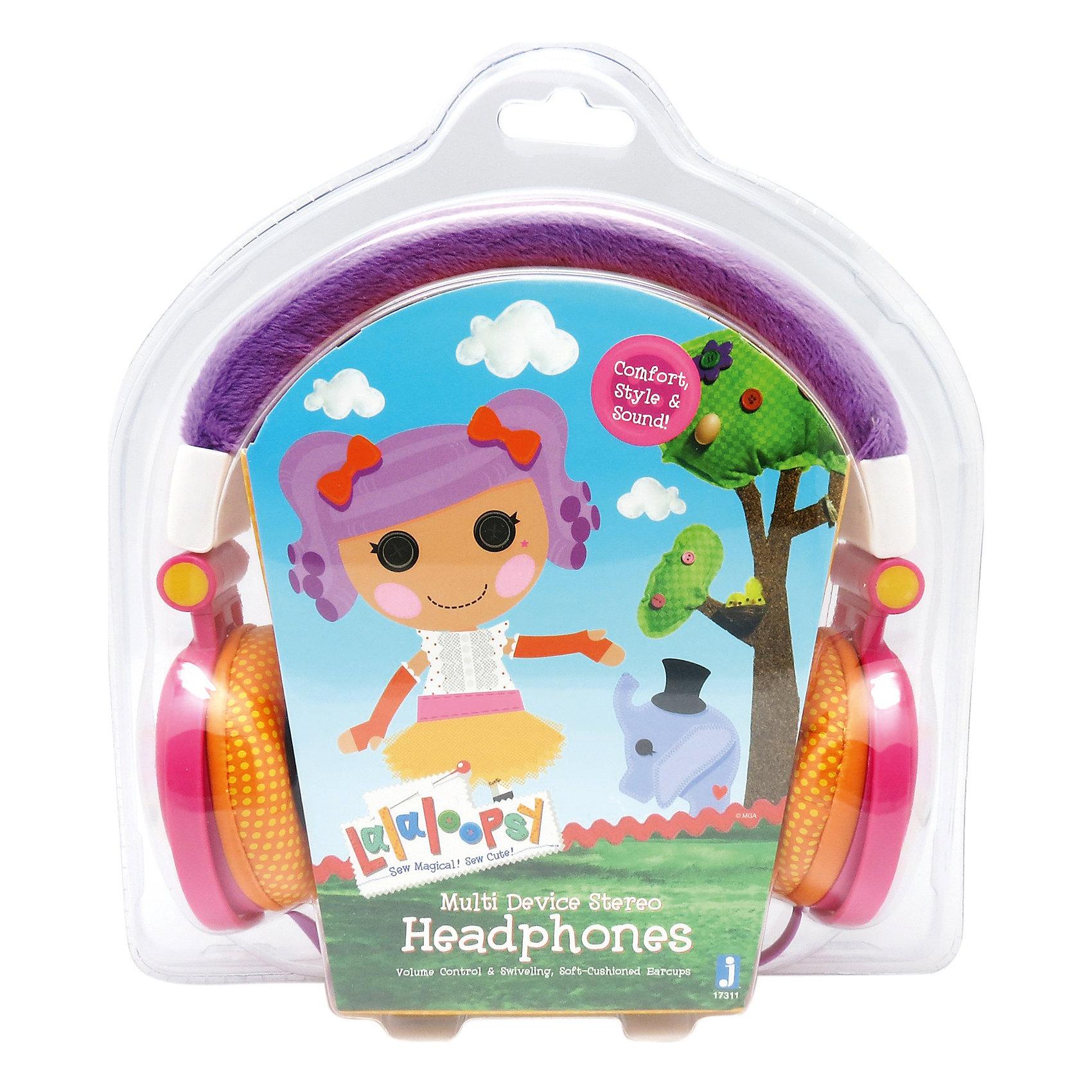 Наушники LalaloopsyНаушники Lalaloopsy (Лалалупси) - это отличный выбор для тех, кто хочет по-настоящему насладиться любимой музыкой.<br>Наушники Lalaloopsy– это замечательный подарок для любой девочки в возрасте от 3-х лет. Данный продукт является стильным аксессуаром для плеера, с помощью которого ваша маленькая принцесса непременно сможет выделиться в толпе. Изделие полностью покрывает ушные раковины, поэтому качество звука будет на наивысшем уровне; ребенок без труда различит каждый инструмент. Яркий привлекательный дизайн обязательно поднимет настроение вашему чаду.<br><br>Дополнительная информация:<br><br>- Длина шнура: 1,2 м.<br>- Тип разъема: mini jack 3,5 мм.<br>- Регулятор громкости<br>- Цвет: фиолетовый, розовый<br>- Материал: пластик<br>- Размер упаковки: 7х3х10 см.<br>- Вес: 200 гр.<br><br>Наушники Lalaloopsy (Лалалупси) можно купить в нашем интернет-магазине.<br><br>Ширина мм: 70<br>Глубина мм: 30<br>Высота мм: 100<br>Вес г: 200<br>Возраст от месяцев: 72<br>Возраст до месяцев: 192<br>Пол: Женский<br>Возраст: Детский<br>SKU: 4064769
