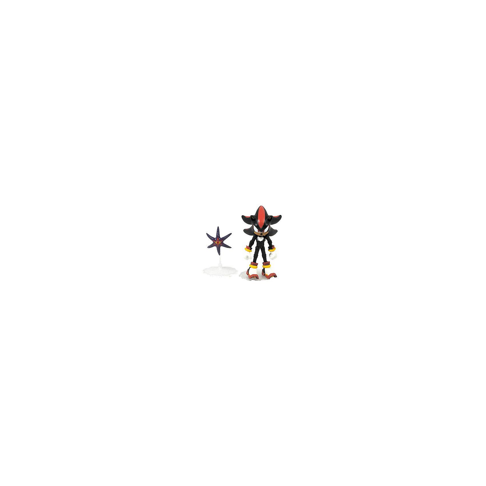 Фигурка Соник, 9смФигурка Соник, 9см – это фирменная фигурка из серии Соник, Шэдоу со звездой Думсай.<br>Фигурка Соник привлечет внимание вашего ребенка и не позволит ему скучать. Она выполнена из безопасного пластика черного и красного цветов в виде ежа Шэдоу - персонажа видеоигр, комиксов и мультфильмов. Фигурка обладает множеством точек артикуляции: сжимаются ладони, подвижные ноги и руки. В комплект также входит дополнительный аксессуар для игры с Шэдоу - фигурка в виде черной морской звезды. Ваш малыш будет часами играть с фигуркой, придумывая различные истории. Порадуйте его таким замечательным подарком!<br><br>Дополнительная информация:<br><br>- В наборе: фигурка, аксессуар<br>- Материал: пластик<br>- Высота фигурки: 9 см.<br>- Размер упаковки: 7х5х20 см.<br>- Вес: 200 гр.<br><br>Фигурку Соник, 9см можно купить в нашем интернет-магазине.<br><br>Ширина мм: 70<br>Глубина мм: 50<br>Высота мм: 200<br>Вес г: 200<br>Возраст от месяцев: 72<br>Возраст до месяцев: 192<br>Пол: Унисекс<br>Возраст: Детский<br>SKU: 4064777