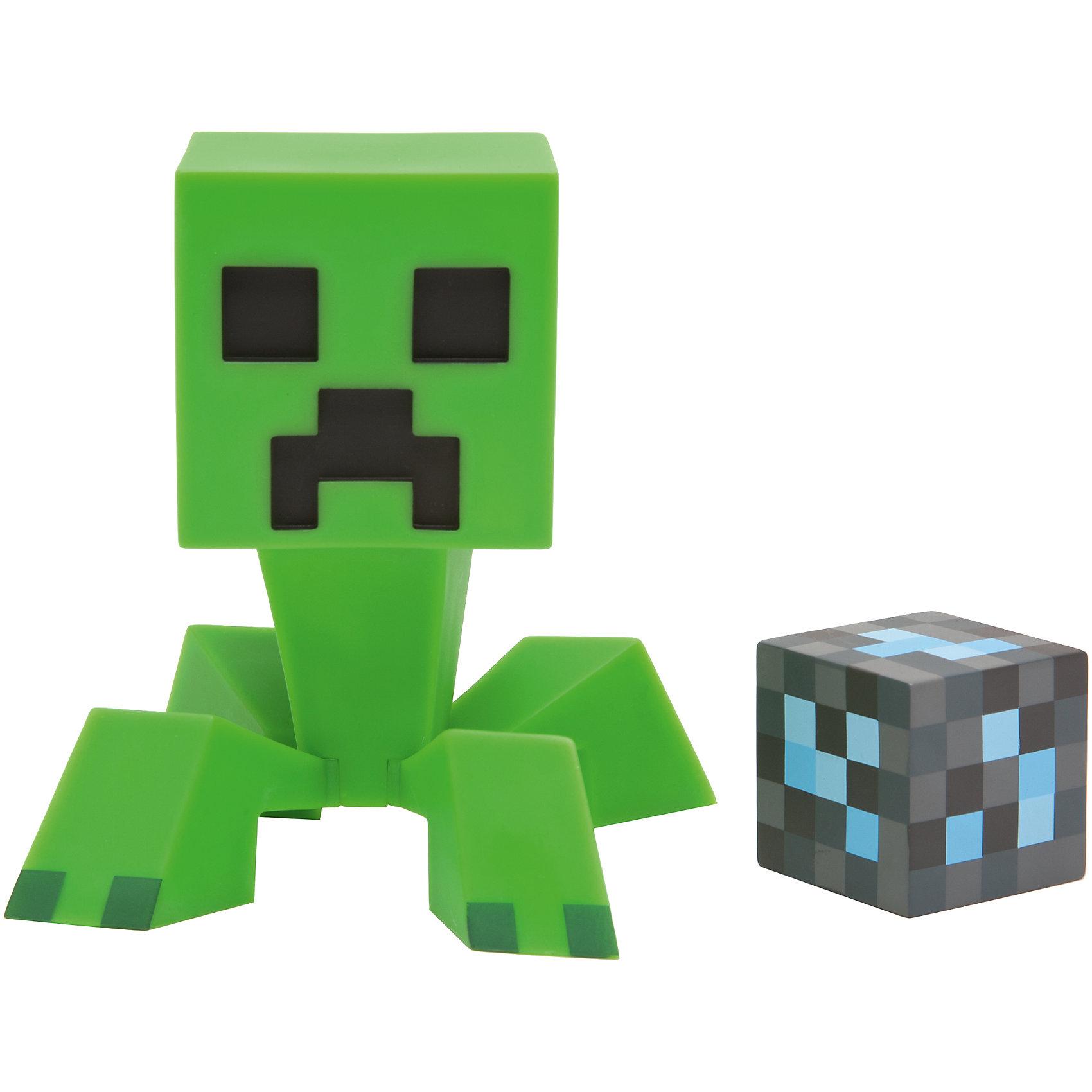 Фигурка Creeper Minecraft, 16смФигурка Creeper Minecraft, 16см – это качественно выполненная фигурка враждебного моба-камикадзе из культовой игры Майнкрафт.<br>Игровая фигурка Creepera (Крипера), которая внешне представляет собой самого примечательного и яркого, по-настоящему характерного для видеоигры Minecraft персонажа, станет отличным оригинальным подарком для любого игрока. У фигурки подвижная голова. В комплекте с фигуркой кубик. Ваш ребенок будет часами играть с этой фигуркой, придумывая различные истории.<br><br>Дополнительная информация:<br><br>- В комплекте: фигурка, пиксельный кубик<br>- Материал: пластик<br>- Размер: 16 см.<br>- Размер упаковки: 20х20х24 см.<br>- Вес: 300 гр.<br><br>Фигурку Creeper Minecraft, 16см можно купить в нашем интернет-магазине.<br><br>Ширина мм: 200<br>Глубина мм: 200<br>Высота мм: 240<br>Вес г: 300<br>Возраст от месяцев: 72<br>Возраст до месяцев: 192<br>Пол: Унисекс<br>Возраст: Детский<br>SKU: 4064781