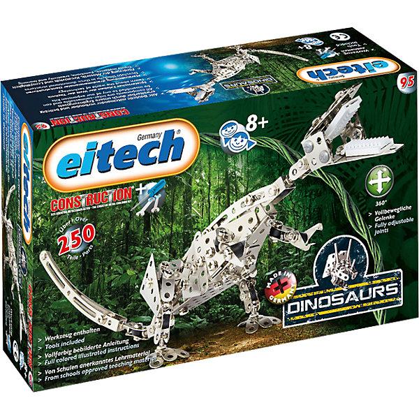 Металлический конструктор Eitech Динозавр-Тираннозавр Rex,250 деталейМеталлические конструкторы<br>Характеристики:<br><br>• возраст: от 8 лет;<br>• материал: металл;<br>• комплектация: 250 дет.;<br>• размер: 38х8х30 см;<br>• вес: 600 гр;<br>• страна бренда: Германия;<br>• бренд: Eitech.<br><br><br>Металлический конструктор Eitech  «Динозавр-Тираннозавр Rex» состоит из 180 металлических деталей. Он позволяет собрать металлическую модель знаменитого динозавра - тираннозавра.<br><br>Конструктор развивает мелкую моторику рук, креативное, инновационное мышление и способствует когнитивному развитию ребёнка. Благодаря большому количеству деталей и инструкции, собирать модели интересно и познавательно, а тот факт, что результатом станет самая настоящая игрушка - не сможет не порадовать юного инженера. <br><br>Металлический конструктор Eitech  «Динозавр-Тираннозавр Rex» можно купить в нашем интернет-магазине.<br>Ширина мм: 293; Глубина мм: 182; Высота мм: 86; Вес г: 633; Возраст от месяцев: 96; Возраст до месяцев: 144; Пол: Мужской; Возраст: Детский; SKU: 4065873;
