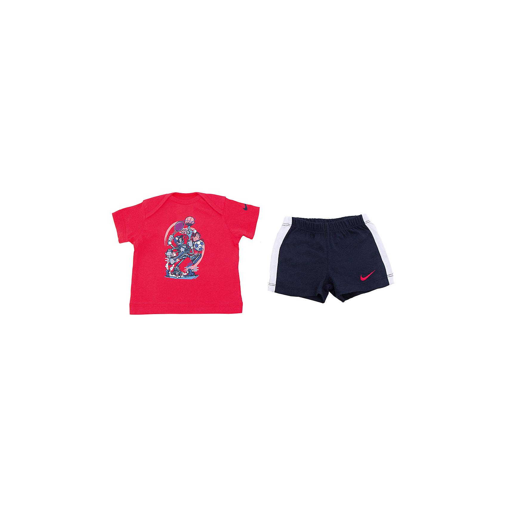Комплект для мальчика: футболка и шорты GFX J SET (SS + SHORT) INF NIKEКомплект для мальчика: футболка и шорты GFX J SET (SS + SHORT) INF NIKE Состав: 100% хлопок<br><br>Ширина мм: 199<br>Глубина мм: 10<br>Высота мм: 161<br>Вес г: 151<br>Цвет: красный<br>Возраст от месяцев: 3<br>Возраст до месяцев: 6<br>Пол: Мужской<br>Возраст: Детский<br>Размер: 68/74,74,74/80,80/86<br>SKU: 4067369