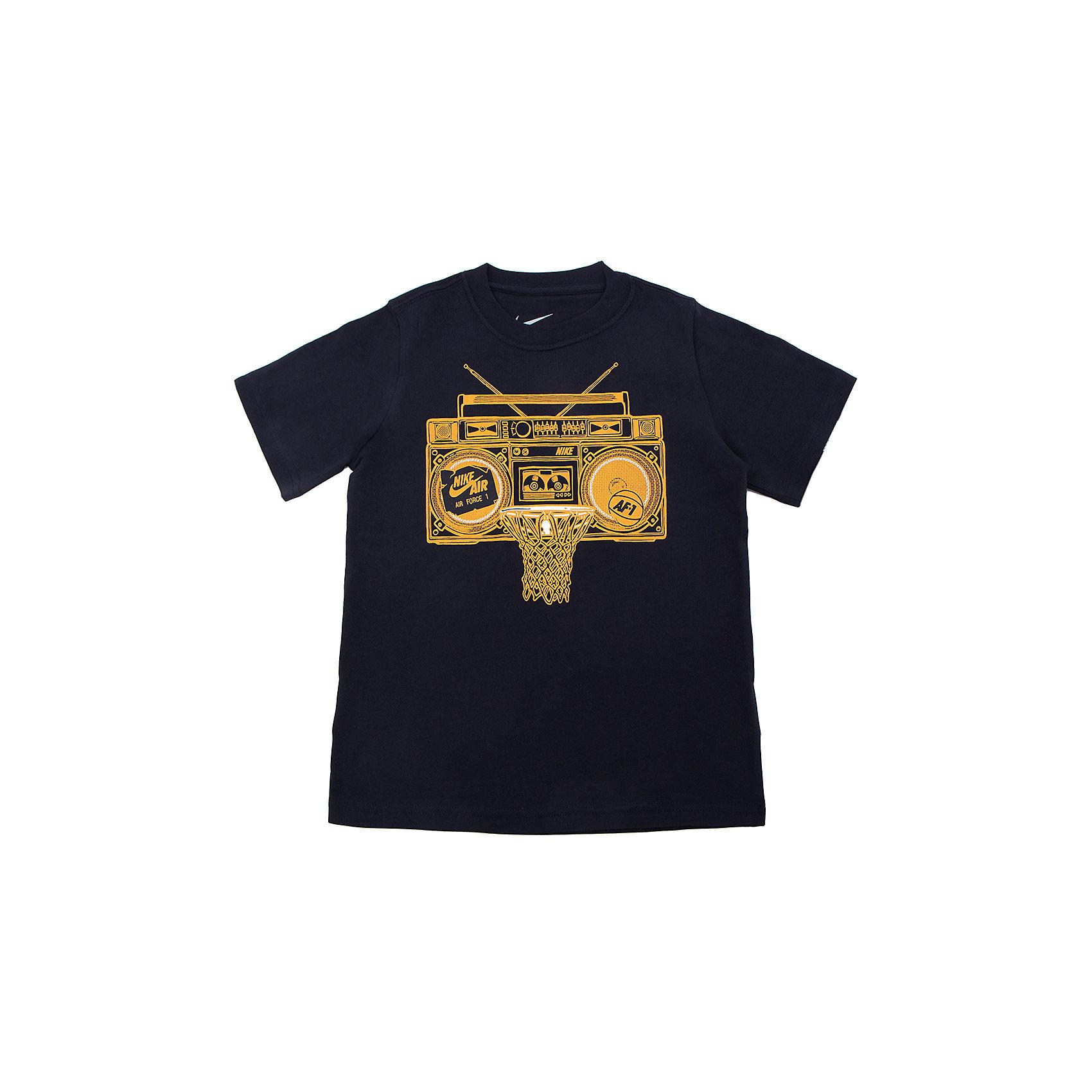 NIKE Футболка для мальчика AF1 BOOM BOX TD TEE YTH NIKE roma nike футболка nike roma tee crest 888804 613