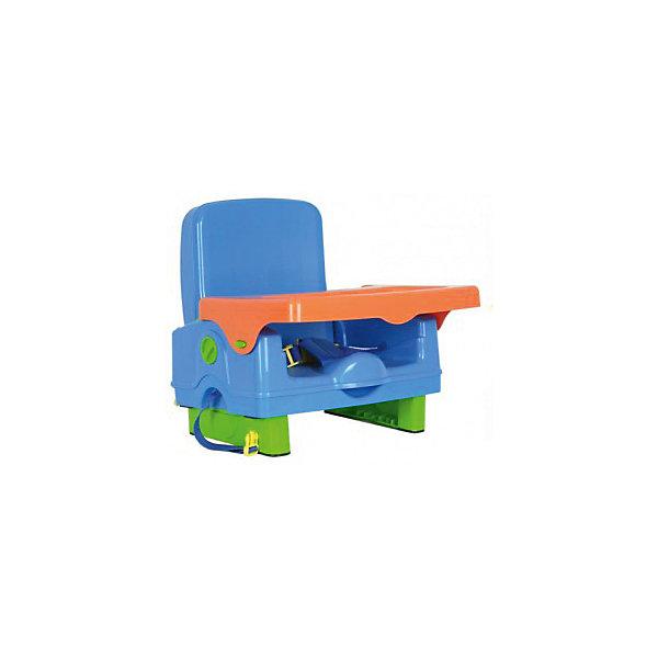 Стульчик для кормления BH-410 Selby, синий/оранжевыйСтульчики для кормления<br>Характеристики стульчика для кормления BH-410 Selby:<br><br>• стульчик устанавливается на обычный стул со спинкой;<br>• способ крепления: с помощью специальных ремней, которые оснащены карабинами;<br>• имеется столик, который можно снять и вымыть;<br>• столешница оснащена бортиками и углублением для поильника-чашки-бутылочки;<br>• 3-х точечные ремни безопасности регулируются по длине, надежно защищают кроху во время пребывания в стульчике;<br>• стульчик складывается очень компактно, в сложенном виде представляет собой чемоданчик с ручкой для переноса;<br>• на спинке стульчика имеется ящик для мелких аксессуаров;<br>• откидывается спинка и ножки;<br>• материал: пластик.<br><br>Размеры: <br><br>• размер стульчика: 42,5х38х39,5 см;<br>• размер чемоданчика (стульчик в сложенном виде): 40х20х31 см;<br>• размер столешницы: 38,5х27,5 см;<br>• вес стульчика: 2,6 кг;<br>• вес в упаковке: 3 кг.<br><br>Внимание! Первое фото является оригинальным, вторые и последующие фото показывают функционал товара.<br><br>Стульчик для кормления BH-410 Selby, синий/оранжевый можно купить в нашем интернет-магазине.<br>Ширина мм: 370; Глубина мм: 330; Высота мм: 390; Вес г: 3000; Возраст от месяцев: 6; Возраст до месяцев: 36; Пол: Унисекс; Возраст: Детский; SKU: 4067749;