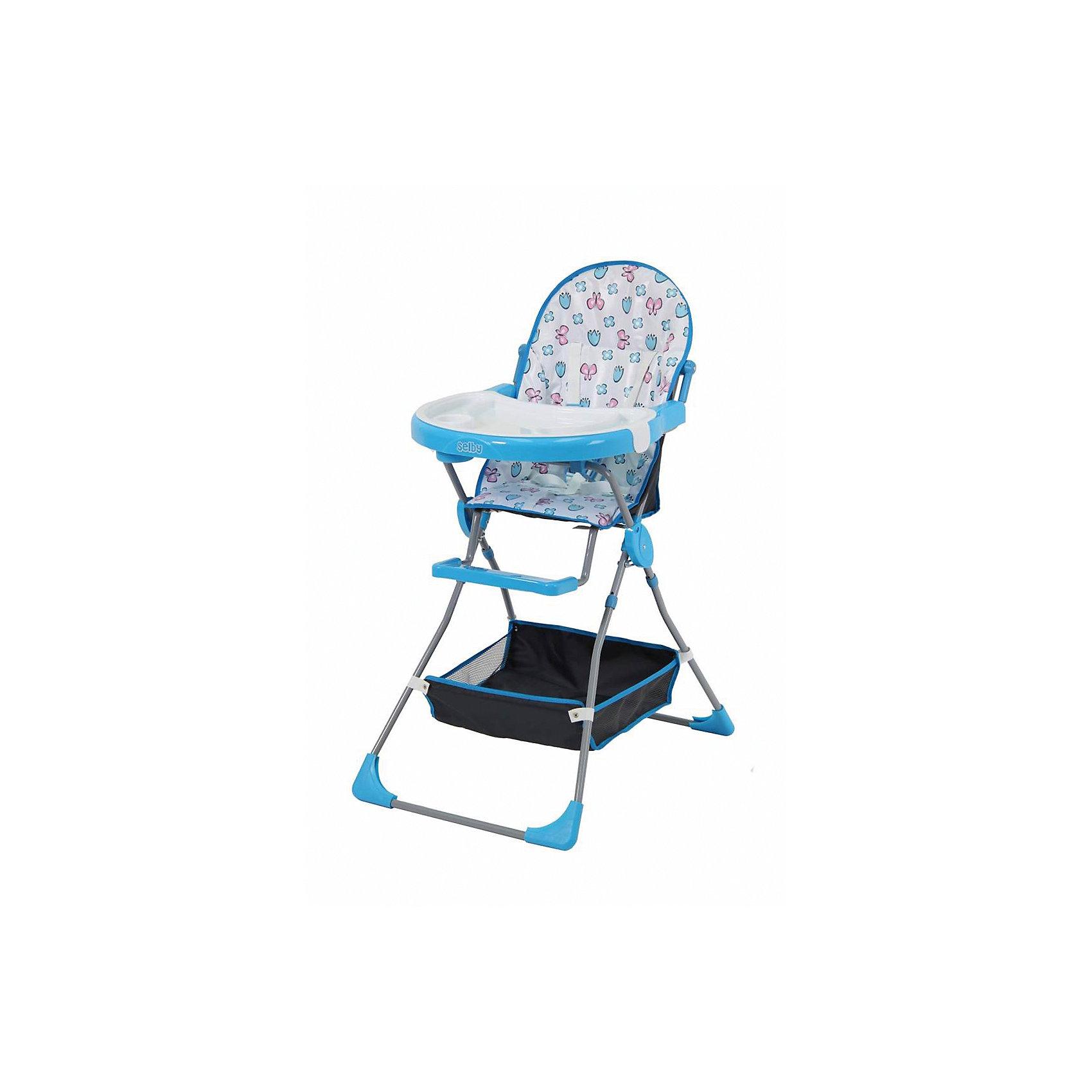Selby Стульчик для кормления 252 Selby, голубой smoby стульчик сидение для ванной cotoons цвет розовый