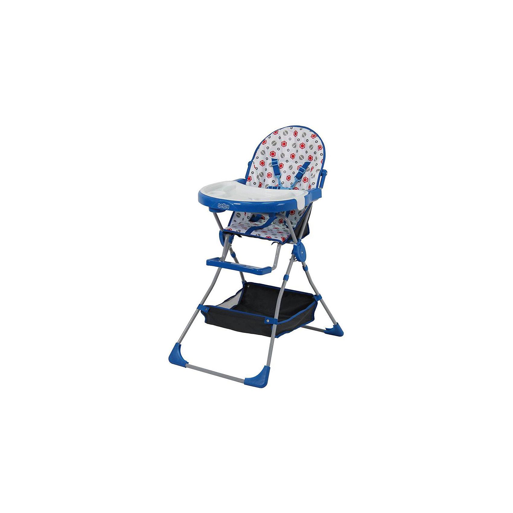 Selby Стульчик для кормления 252 Selby, синий smoby стульчик сидение для ванной cotoons цвет розовый