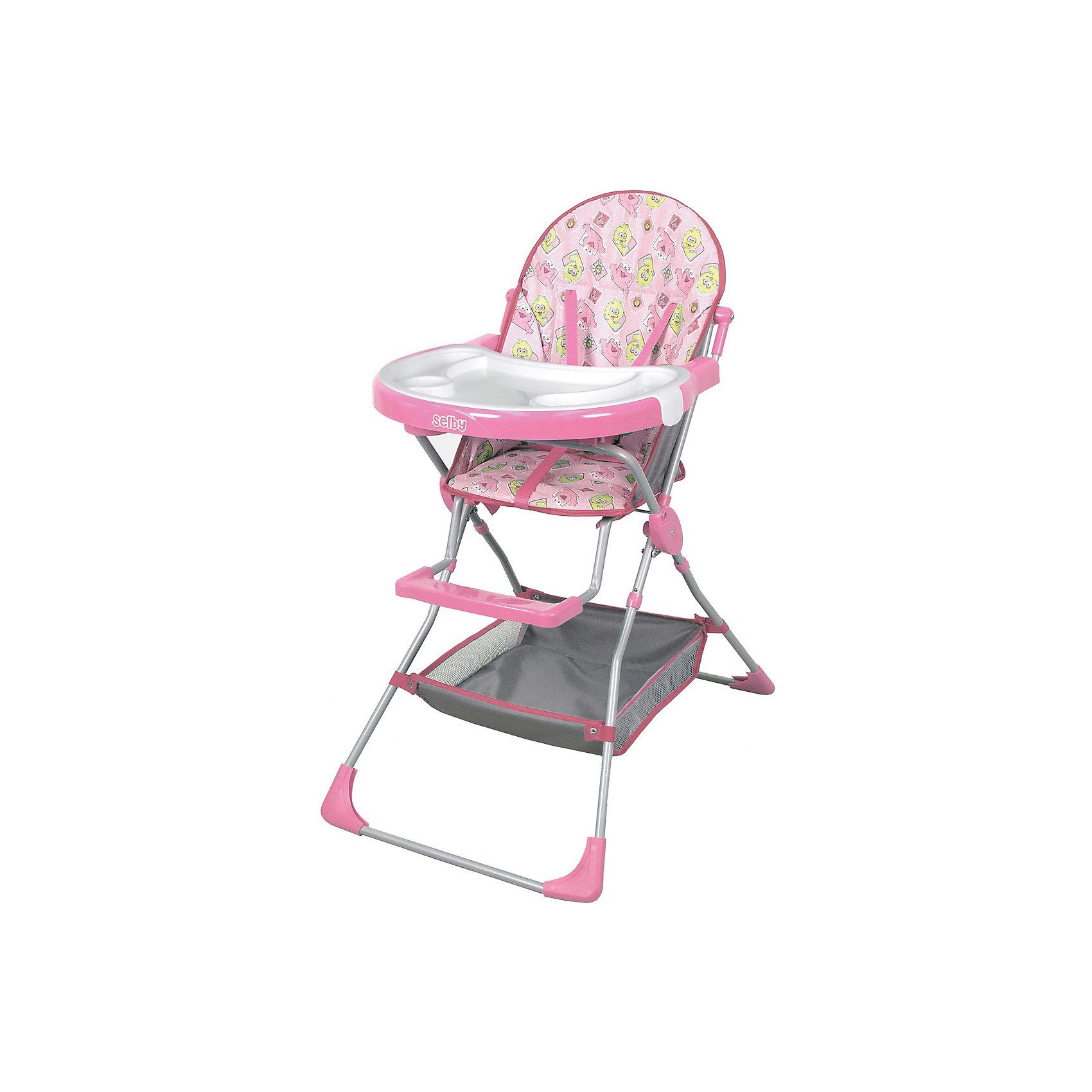 Стульчик для кормления 252 Selby, розовыйУдобный стульчик для кормления оснащен трехточечными  ремнями безопасности и подставкой для ног. Имеет большой удобный столик, съемный поднос с углублением для посуды и корзинку для принадлежностей. Легкая устойчивая конструкция и съемное моющееся сидение удобны в использовании и уходе.<br><br>Дополнительная информация:<br><br>- Материал: пластик, ПЭ, металл.<br>- Размер: 73,5 х 53 х 100,5 см.<br>- Вес: 5,10 кг.<br>- Цвет: розовый.<br>- Пятиточечный ремень безопасности.<br>- Съемный поднос с углублением для посуды<br>- Подставка для ног.<br>- Съемное моющееся сидение.<br>- Корзинка для принадлежностей.<br><br>Стульчик для кормления 252 Selby, розовый, можно купить в нашем магазине.<br><br>Ширина мм: 1005<br>Глубина мм: 550<br>Высота мм: 530<br>Вес г: 6350<br>Возраст от месяцев: 6<br>Возраст до месяцев: 36<br>Пол: Женский<br>Возраст: Детский<br>SKU: 4067754