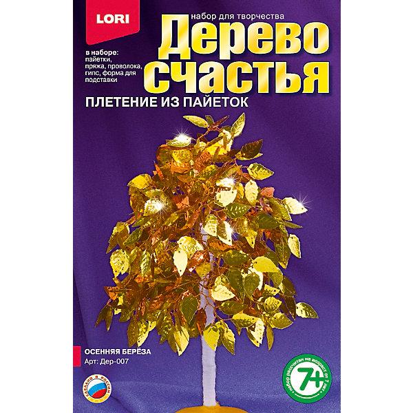 Дерево счастья Осенняя берёза, LORIНаборы для создания украшений<br>Если Ваша девочка любит рукоделие, то набор для плетения Дерево счастья Осенняя береза от LORI (ЛОРИ) - это то, что Вы искали. Дерево счастья очень оригинальный набор, с помощью которого девочка сможет создать невероятной красоты сувенир своими руками. Веточки дерева выполняются из проволоки и украшаются пайетками и бисером. Ствол и подставку тоже можно создать из деталей набора. Кропотливая работа будет вознаграждена, ведь результат превзойдет все ожидания! Сверкающая и переливающаяся золотистая березка принесет любовь и гармонию в дом, где будет стоять! По окончании работы, прекрасное деревце можно подарить друзьям или украсить им интерьер! Занятие с замечательным набором Дерево счастья Осенняя береза от LORI (ЛОРИ) будет способствовать развитию мышления, воображения ребенка и формировать эстетическое восприятие. <br><br>Дополнительная информация:<br><br>- Способствует развитию мышления, воображения и эстетического восприятия;<br>- В комплекте: бисер, акриловые бусины, пайетки, пряжа коричневая, проволока, гипс, полистирольная форма для заливки гипса, подробная инструкция;<br>- Оригинальный набор;<br>- Прекрасный подарок;<br>- Размер упаковки: 20,8 х 13,5 х 4 см;<br>- Вес: 305 г<br><br>Дерево счастья Осенняя берёза, LORI (ЛОРИ) можно купить в нашем интернет-магазине.<br><br>Ширина мм: 208<br>Глубина мм: 135<br>Высота мм: 40<br>Вес г: 305<br>Возраст от месяцев: 84<br>Возраст до месяцев: 144<br>Пол: Женский<br>Возраст: Детский<br>SKU: 4073052
