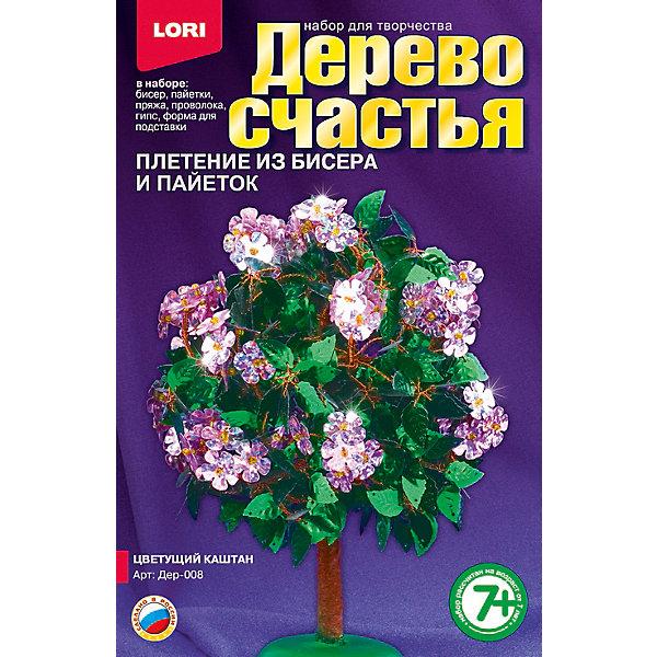Дерево счастья Цветущий каштан, LORIНаборы для создания украшений<br>Если Ваша девочка любит рукоделие, то набор для плетения Дерево счастья Цветущий каштан от LORI (ЛОРИ) - это то, что Вы искали. Дерево счастья очень оригинальный набор, с помощью которого девочка сможет создать невероятной красоты сувенир своими руками. Веточки дерева выполняются из проволоки и украшаются пайетками и бисером. Ствол и подставку тоже можно создать из деталей набора. Кропотливая работа будет вознаграждена, ведь результат превзойдет все ожидания! Сверкающий и переливающийся цветущий каштан принесет любовь и гармонию в дом, где будет стоять! По окончании работы, прекрасное деревце можно подарить друзьям или украсить им интерьер! Занятие с замечательным набором Дерево счастья Цветущий каштан от LORI (ЛОРИ) будет способствовать развитию мышления, воображения ребенка и формировать эстетическое восприятие. <br><br>Дополнительная информация:<br><br>- Способствует развитию мышления, воображения и эстетического восприятия;<br>- В комплекте: бисер, акриловые бусины, пайетки, пряжа коричневая, проволока, гипс, полистирольная форма для заливки гипса, подробная инструкция;<br>- Оригинальный набор;<br>- Прекрасный подарок;<br>- Размер упаковки: 20,8 х 13,5 х 4 см;<br>- Вес: 340 г<br><br>Дерево счастья Цветущий каштан, LORI (ЛОРИ) можно купить в нашем интернет-магазине.<br><br>Ширина мм: 208<br>Глубина мм: 135<br>Высота мм: 40<br>Вес г: 340<br>Возраст от месяцев: 84<br>Возраст до месяцев: 144<br>Пол: Женский<br>Возраст: Детский<br>SKU: 4073053