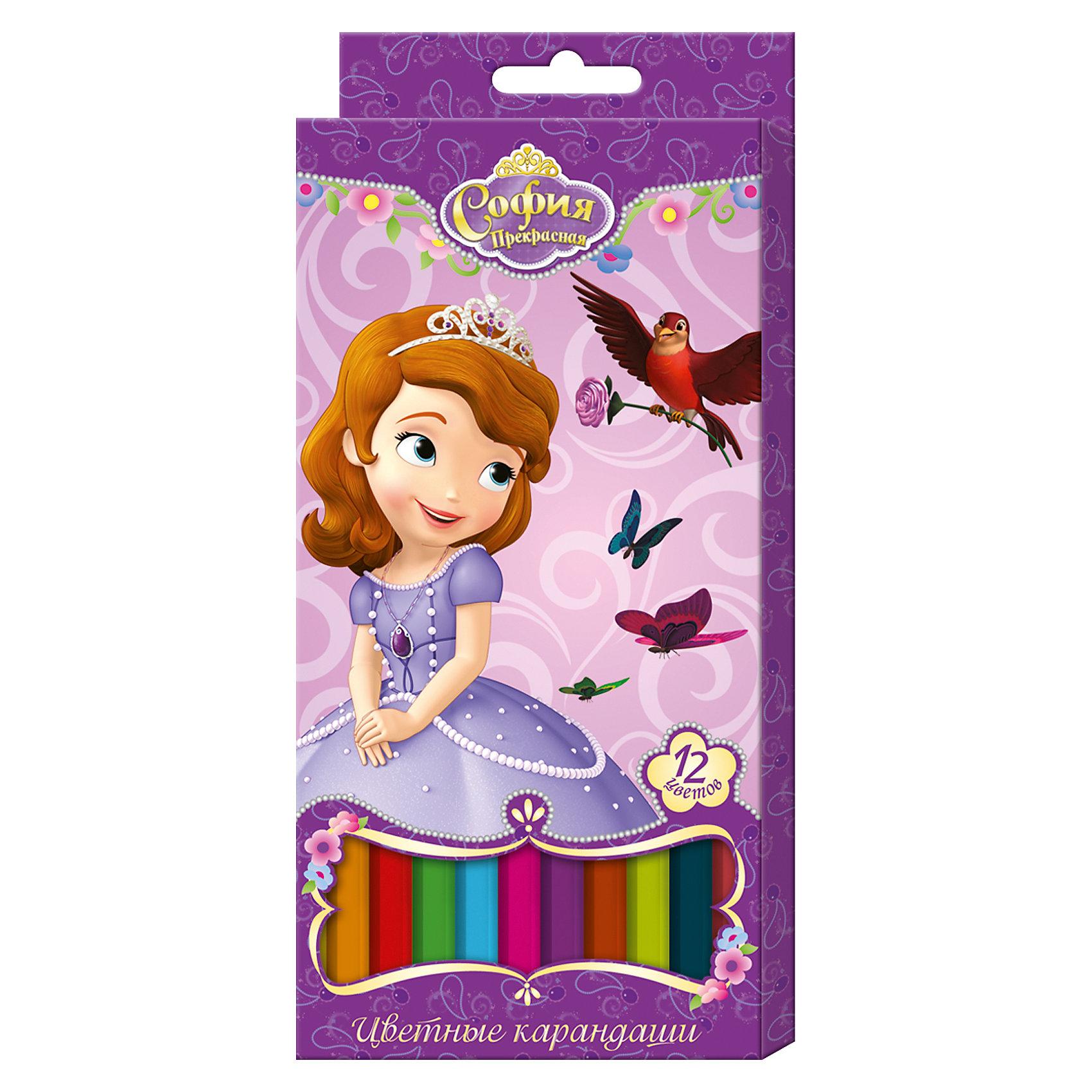 Цветные карандаши София Прекрасная 12 цветов