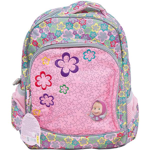 Ортопедический мягкий рюкзак Сказка, Маша и МедведьМаша и Медведь Товары для фанатов<br>Ортопедический мягкий рюкзак Сказка – прекрасный вариант для вашего ребенка. Он имеет 2 больших отделения, подходящих для предметов формата А4, внутри которых есть отсеки для тетрадей и задняя плюшевая стенка, чтобы размещенный в рюкзаке гаджет не поцарапался. Снаружи находятся лицевой карман-органайзер на молнии и два боковых кармана на резинках, подходящих для небольших предметов. Ортопедическая спинка, созданная по специальной технологии из дышащего материала, равномерно распределяет нагрузку на плечевые суставы и спину. Удлиненные держатели облегчают фиксацию длины ремней с мягкими подкладками. Светоотражающие элементы на лямках и лицевом кармане повышают безопасность ребенка на дороге в темное время суток. Мягкая ручка удобна для переноски в руке. Рюкзак изготовлен из износоустойчивых материалов с водонепроницаемой основой, декорирован привлекательным принтом, вышивкой и подвесками на молнии в виде самолетиков.<br><br>Дополнительная информация:<br><br>- Материал: текстиль, пластик<br>- Размер: 31х38 см.<br>- Цвет: розовый.<br>- Количество отделений: 2<br>- Количество карманов: 3<br>- Тип застежки: молния.<br>- Ортопедическая спинка.<br>- Регулируемые по длине лямки с мягкими накладками.<br>- Светоотражающие элементы. <br><br>Ортопедический мягкий рюкзак Сказка, Маша и Медведь, можно купить в нашем магазине.<br>Ширина мм: 310; Глубина мм: 50; Высота мм: 380; Вес г: 840; Возраст от месяцев: 36; Возраст до месяцев: 108; Пол: Женский; Возраст: Детский; SKU: 4074011;