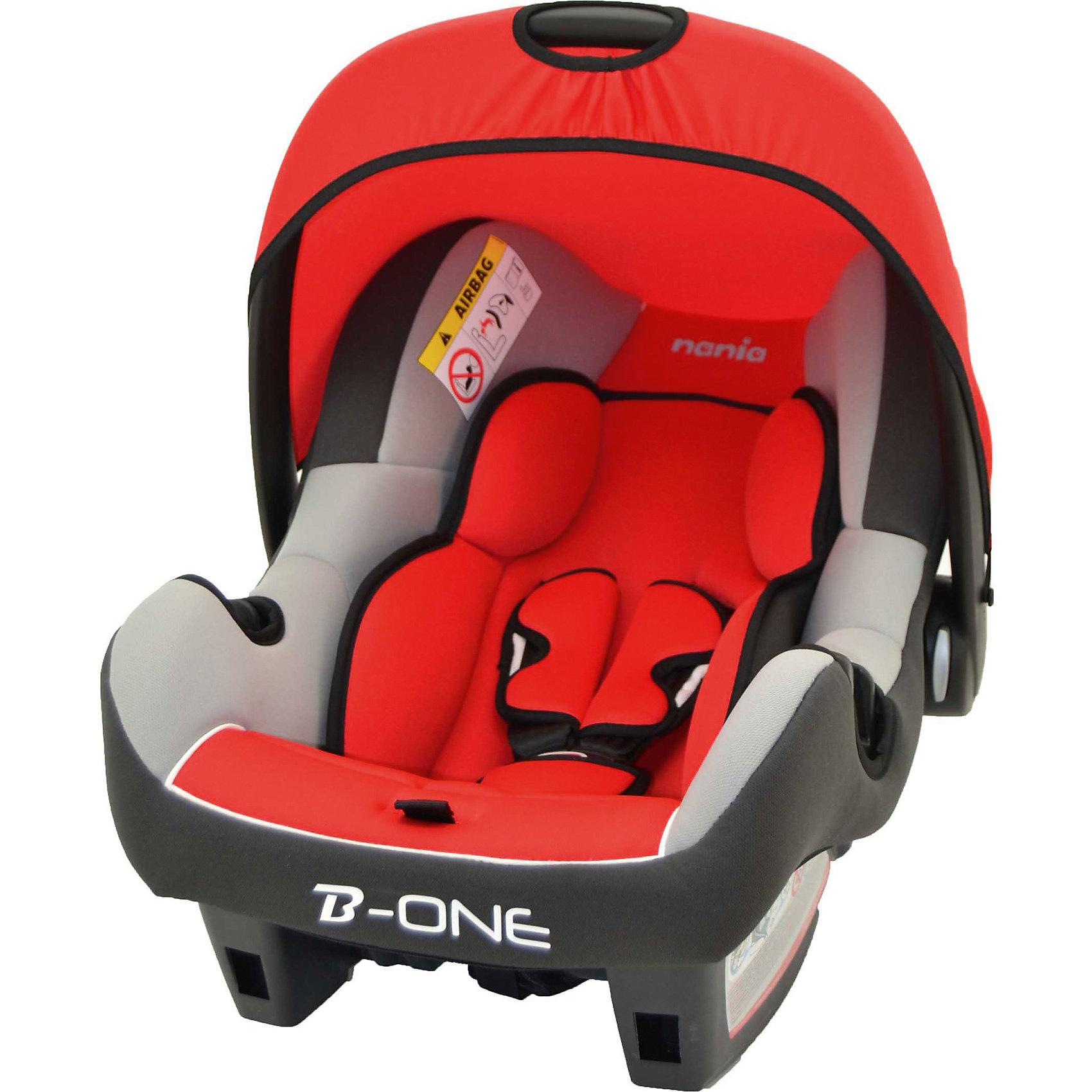 Автокресло Beone SP LUX, 0-13 кг., Nania, agora carminХарактеристики автолюльки Nania Beone SP LUX:<br><br>• группа 0+;<br>• вес ребенка: до 13 кг;<br>• возраст ребенка: от рождения до 12 месяцев;<br>• способ установки: против хода движения автомобиля;<br>• способ крепления: штатными ремнями безопасности автомобиля;<br>• солнцезащитный тент, положение регулируется, тент можно снять совсем;<br>• анатомический вкладыш для новорожденного;<br>• 3-х точечные ремни безопасности с мягкими накладками;<br>• ручка для переноски автолюльки;<br>• возможность использовать автолюльку как кресло-качалку, при необходимости можно зафиксировать люльку, переместив ручку назад до упора;<br>• эргономичная чаша автокресла;<br>• дополнительная защита от боковых ударов, система SP (side protection);<br>• съемные чехлы, стирка при температуре 30 градусов;<br>• материал: пластик, полиэстер, полипропилен;<br>• стандарт безопасности: ЕСЕ R44/04.<br><br>Размер автокресла: 70х47х40 см<br>Вес автокресла: 3,2 кг<br><br>Автолюлька для новорожденных устанавливается на заднем сиденье автомобиля лицом против хода движения автомобиля. Специальная жесткая ручка позволяет использовать автолюльку в качестве переноски, чтобы не потревожить спящего малыша. Глубокая чаша и капор обеспечивают комфортное положение ребенка в автокресле с защитой от солнечных лучей. <br><br>Автокресло Beone SP LUX, 0-13 кг., Nania, agora carmin можно купить в нашем интернет-магазине.<br><br>Ширина мм: 400<br>Глубина мм: 390<br>Высота мм: 720<br>Вес г: 7690<br>Возраст от месяцев: 0<br>Возраст до месяцев: 15<br>Пол: Унисекс<br>Возраст: Детский<br>SKU: 4074769