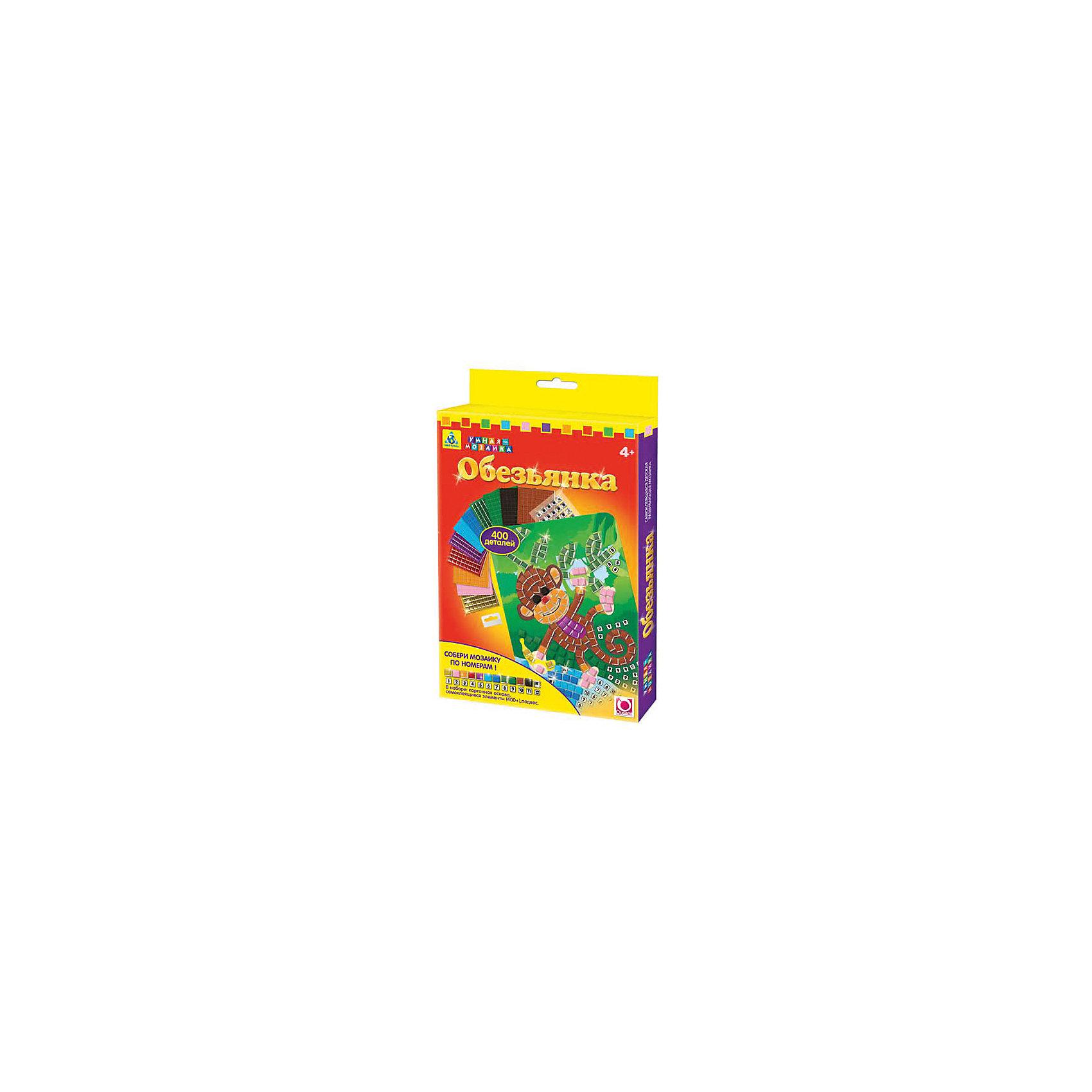 Origami Самоклеющаяся мозаика Обезьянка, Оригами набор эм 7 предметов 25 йогурт 984178