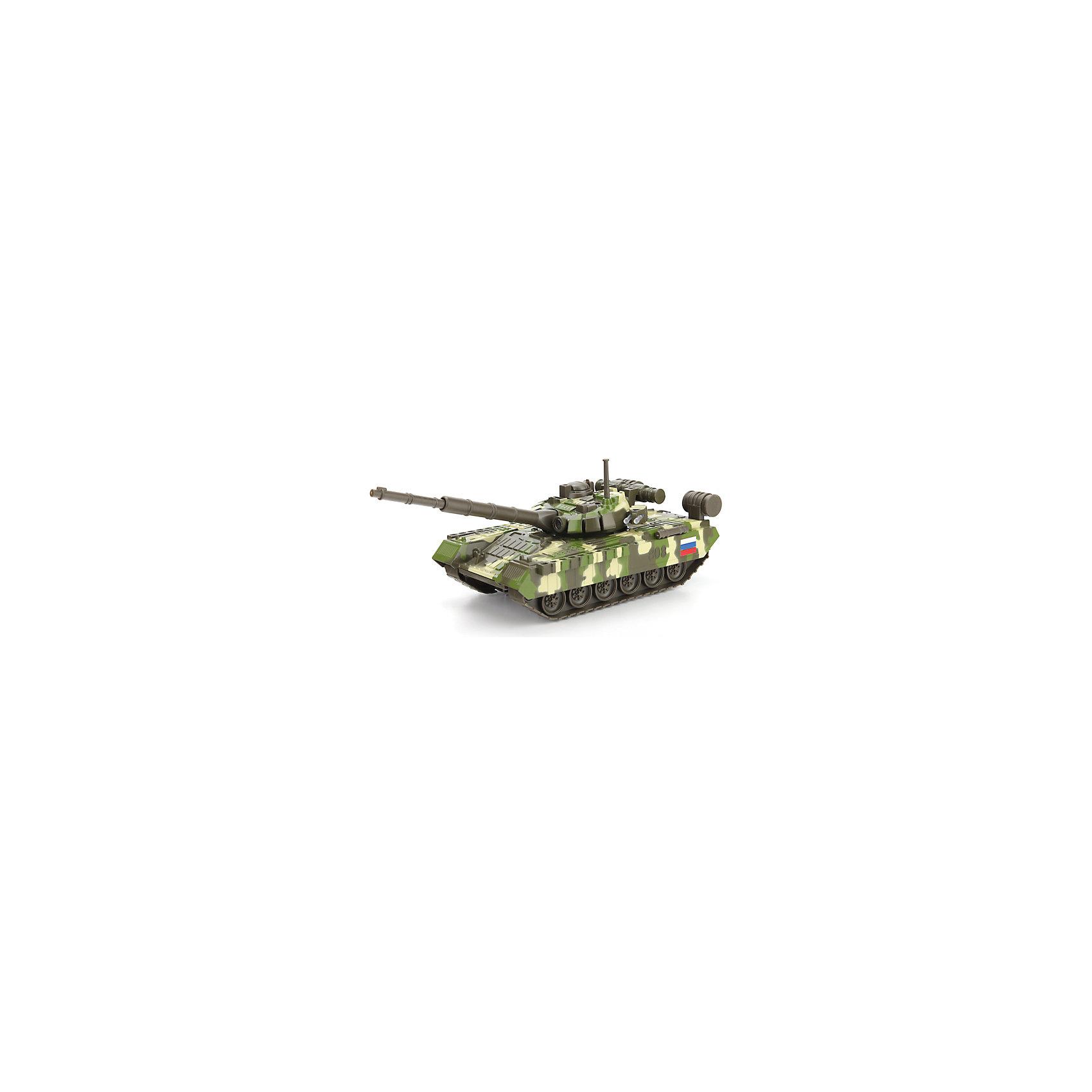 ТЕХНОПАРК Танк T-90, со светом и звуком, ТЕХНОПАРК, в ассортименте технопарк пожарная машина со светом и звуком технопарк