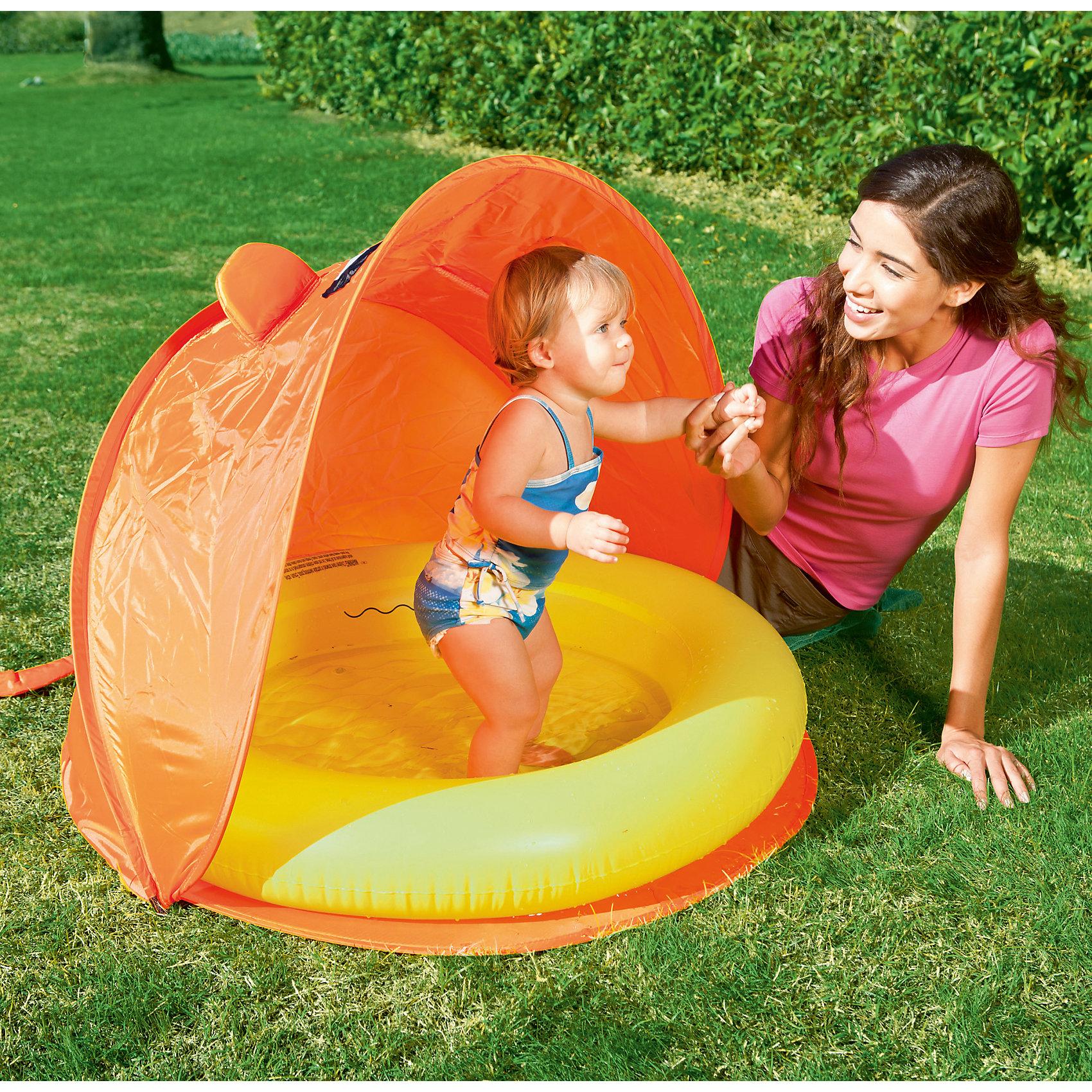 Детский надувной бассейн со складным навесом, Bestway