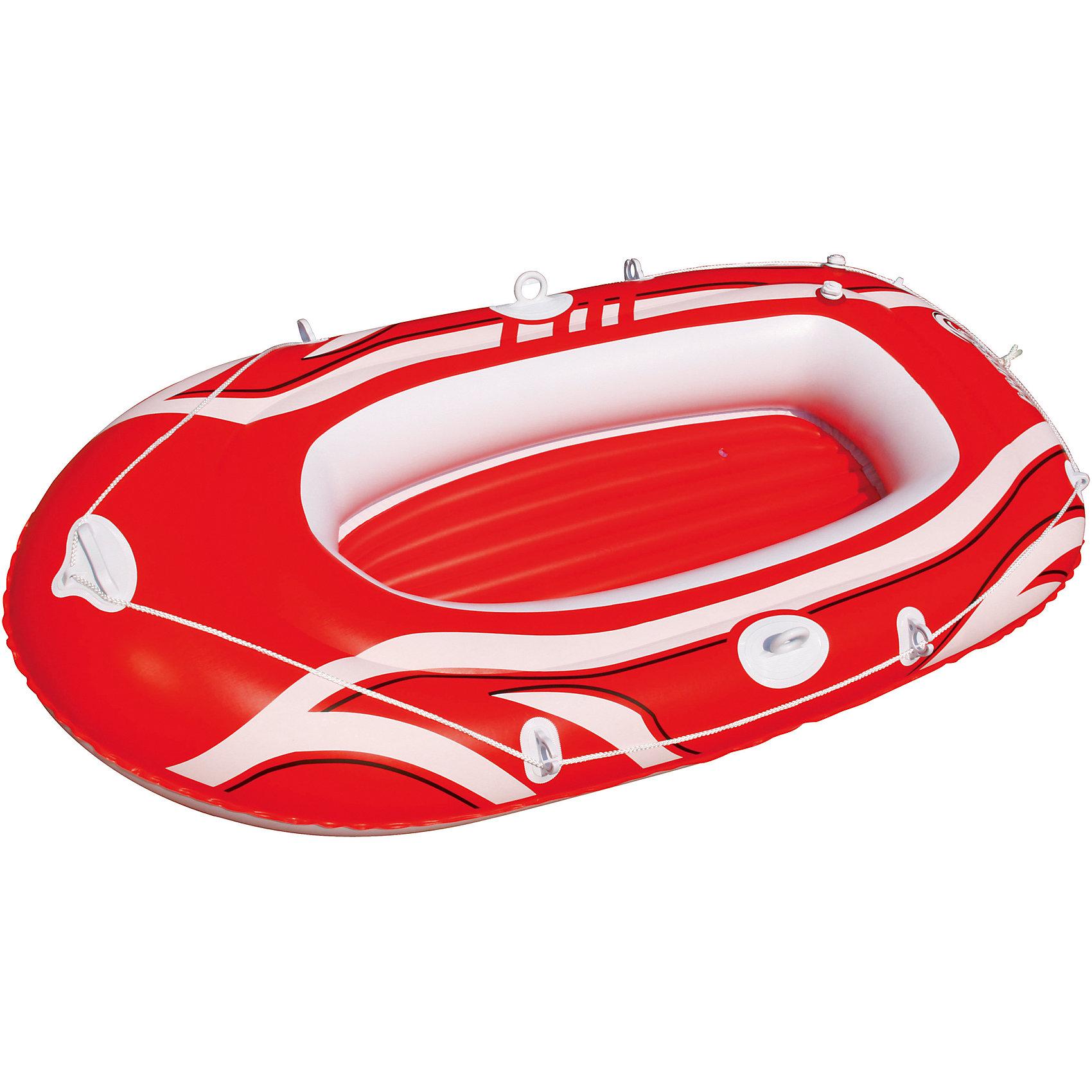 Надувная лодка с двухкамерным бортом, Bestway, краснаяМатрасы и лодки<br>Характеристики товара:<br><br>• материал: винил<br>• цвет: красный<br>• размер: 188х98 см<br>• комплектация: леерный трос, уключины, ремкомплект<br>• максимальная нагрузка: 120 кг<br>• легкий прочный материал<br>• надувная<br>• яркий цвет<br>• 1,5-местная<br>• комфортный<br>• хорошо заметна на воде<br>• возраст: от 3 лет<br>• страна бренда: США, Китай<br>• страна производства: Китай<br><br>Это отличный способ научить малышей не бояться воды и обеспечить детям (и взрослым тоже) веселое времяпровождение! Лодка поможет ребенку больше времени проводить на воде.<br><br>Предмет сделан из прочного материала, но очень легкого - отлично держится на воде. Лодка легкая, её удобно брать с собой. Изделие произведено из качественных и безопасных для детей материалов.<br><br>Надувную лодку с двухкамерным бортом, красную, от бренда Bestway (Бествей) можно купить в нашем интернет-магазине.<br><br>Ширина мм: 350<br>Глубина мм: 90<br>Высота мм: 330<br>Вес г: 2955<br>Возраст от месяцев: 12<br>Возраст до месяцев: 1188<br>Пол: Унисекс<br>Возраст: Детский<br>SKU: 4077691
