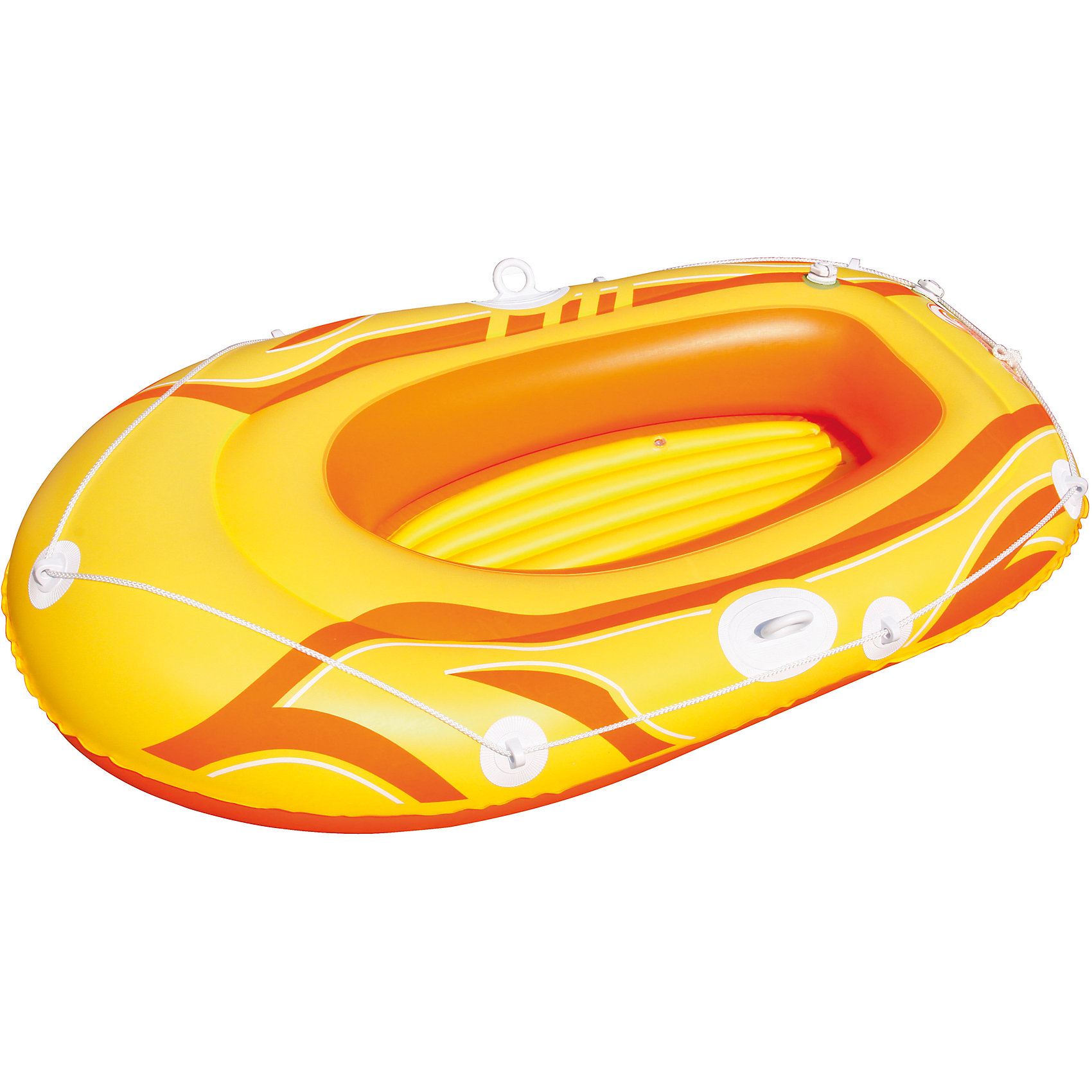 Надувная лодка с двухкамерным бортом, Bestway, желтаяМатрасы и лодки<br>Характеристики товара:<br><br>• материал: винил<br>• цвет: желтый<br>• размер: 188х98 см<br>• комплектация: леерный трос, уключины, ремкомплект<br>• максимальная нагрузка: 120 кг<br>• легкий прочный материал<br>• надувная<br>• яркий цвет<br>• 1,5-местная<br>• комфортный<br>• хорошо заметна на воде<br>• возраст: от 3 лет<br>• страна бренда: США, Китай<br>• страна производства: Китай<br><br>Это отличный способ научить малышей не бояться воды и обеспечить детям (и взрослым тоже) веселое времяпровождение! Лодка поможет ребенку больше времени проводить на воде.<br><br>Предмет сделан из прочного материала, но очень легкого - отлично держится на воде. Лодка легкая, её удобно брать с собой. Изделие произведено из качественных и безопасных для детей материалов.<br><br>Надувную лодку с двухкамерным бортом, желтую, от бренда Bestway (Бествей) можно купить в нашем интернет-магазине.<br><br>Ширина мм: 350<br>Глубина мм: 90<br>Высота мм: 330<br>Вес г: 2955<br>Возраст от месяцев: 12<br>Возраст до месяцев: 1188<br>Пол: Унисекс<br>Возраст: Детский<br>SKU: 4077692
