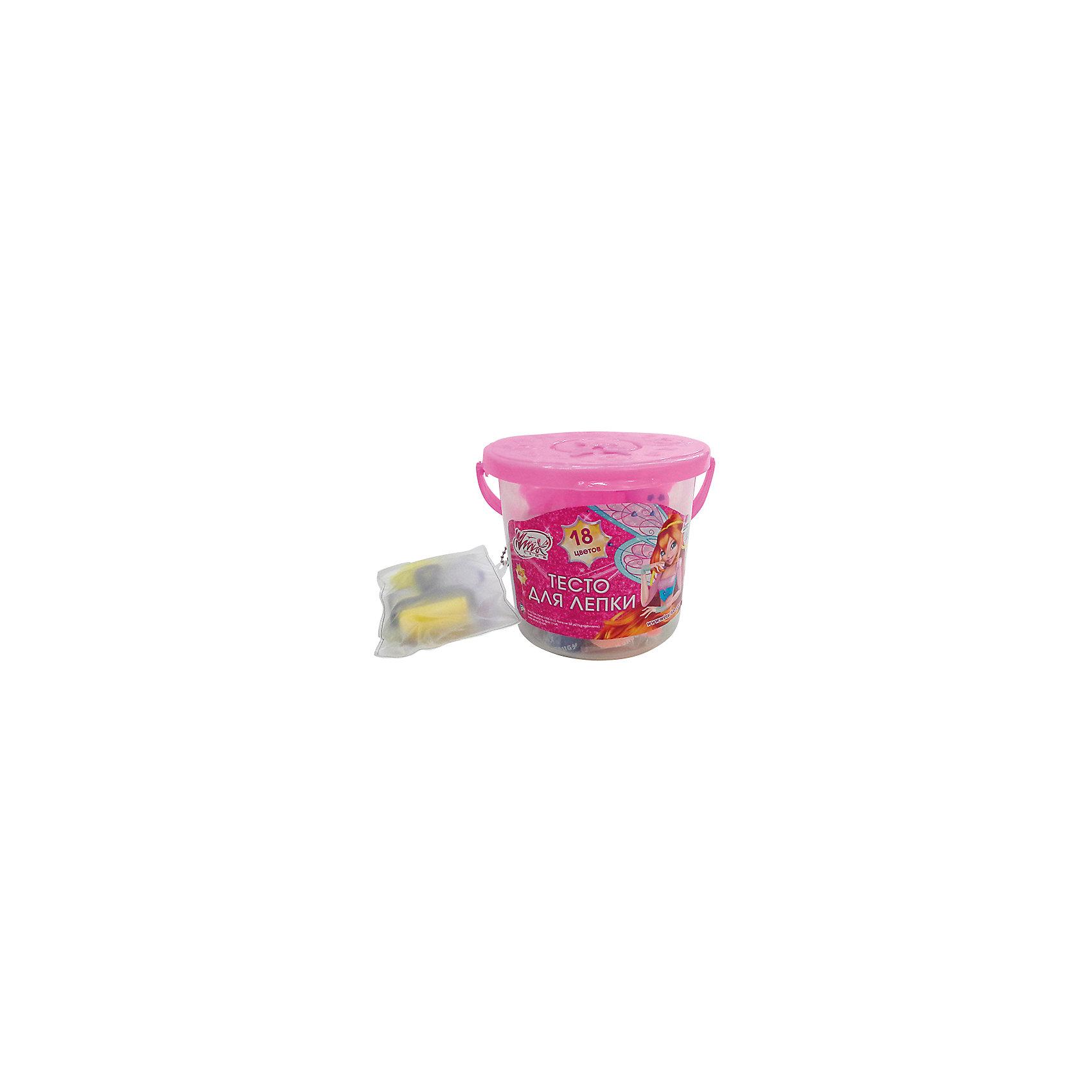 Тесто для лепки с аксессуарами, 18 цветов, Winx Club