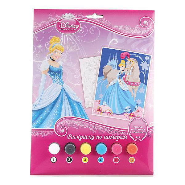 Раскраска по номерам Принцессы, Принцессы ДиснейНаборы для раскрашивания<br>Раскраска по номерам Принцессы, Disney Princess (Принцессы Диснея) представляет собой набор для детского творчества, созданный специально для начинающих художниц. Все краски пронумерованы, также как и черно-белая контурная картинка, изображающая знаменитую диснеевскую принцессу. Благодаря данному комплекту, ребенок легко и непринужденно сможет научиться рисовать кистью и красками, а также смешивать цвета. <br><br>Комплект: раскраска, краски 6 цветов, кисточка<br><br>Дополнительная информация:<br>-Серия: Принцессы Диснея<br>-Вес в упаковке: 160 г<br>-Размеры в упаковке: 220х300х20 мм<br>-Материалы: бумага, краски, пластмасса<br><br>Занятие с набором поможет развить в ребенке художественные способности и подарит ему море положительных эмоций!<br><br>Раскраска по номерам Принцессы, Disney Princess (Принцессы Диснея) можно купить в нашем магазине.<br><br>Ширина мм: 220<br>Глубина мм: 300<br>Высота мм: 20<br>Вес г: 160<br>Возраст от месяцев: 60<br>Возраст до месяцев: 108<br>Пол: Женский<br>Возраст: Детский<br>SKU: 4079285