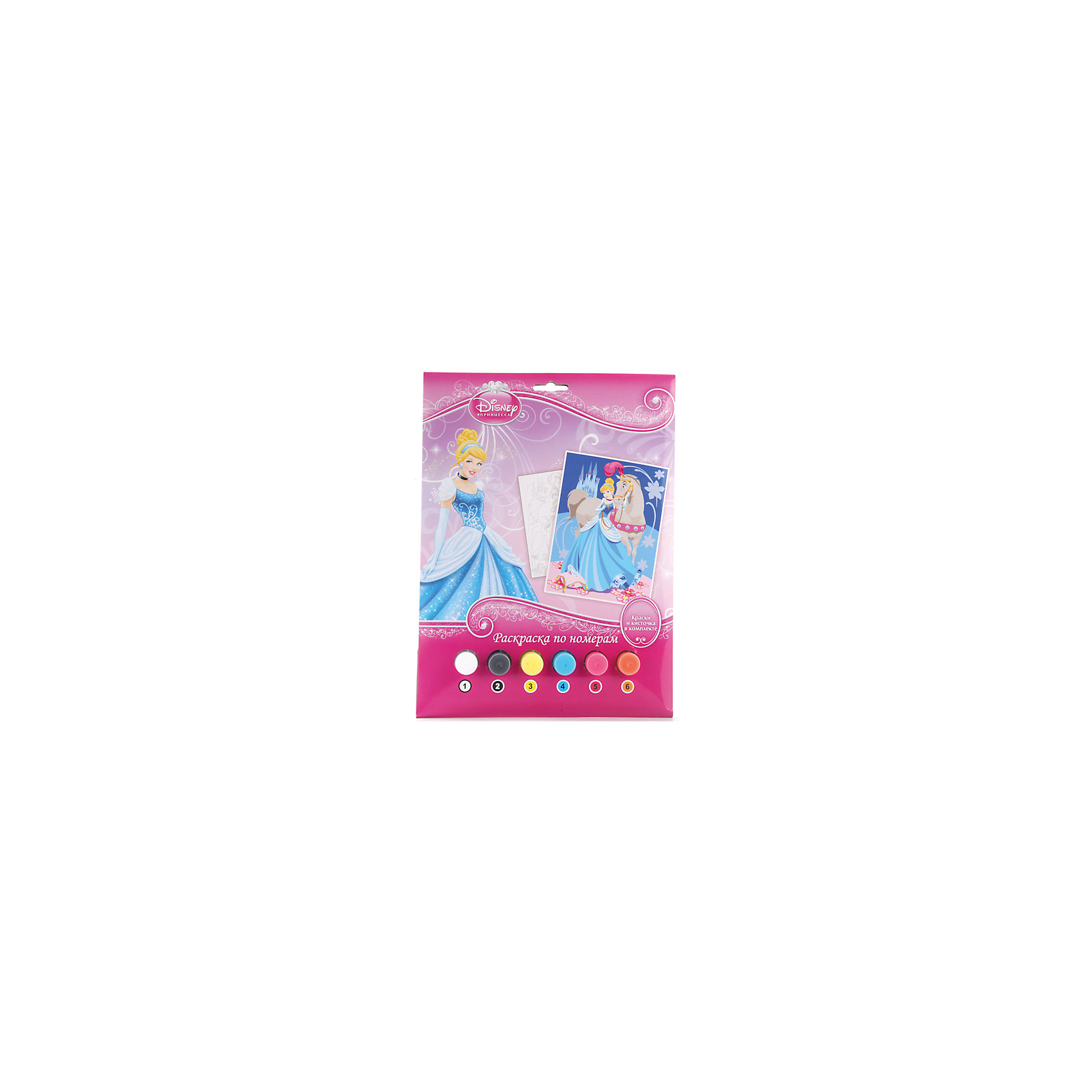 Раскраска по номерам Принцессы, Принцессы ДиснейПринцессы Дисней<br>Раскраска по номерам Принцессы, Disney Princess (Принцессы Диснея) представляет собой набор для детского творчества, созданный специально для начинающих художниц. Все краски пронумерованы, также как и черно-белая контурная картинка, изображающая знаменитую диснеевскую принцессу. Благодаря данному комплекту, ребенок легко и непринужденно сможет научиться рисовать кистью и красками, а также смешивать цвета. <br><br>Комплект: раскраска, краски 6 цветов, кисточка<br><br>Дополнительная информация:<br>-Серия: Принцессы Диснея<br>-Вес в упаковке: 160 г<br>-Размеры в упаковке: 220х300х20 мм<br>-Материалы: бумага, краски, пластмасса<br><br>Занятие с набором поможет развить в ребенке художественные способности и подарит ему море положительных эмоций!<br><br>Раскраска по номерам Принцессы, Disney Princess (Принцессы Диснея) можно купить в нашем магазине.<br><br>Ширина мм: 220<br>Глубина мм: 300<br>Высота мм: 20<br>Вес г: 160<br>Возраст от месяцев: 60<br>Возраст до месяцев: 108<br>Пол: Женский<br>Возраст: Детский<br>SKU: 4079285