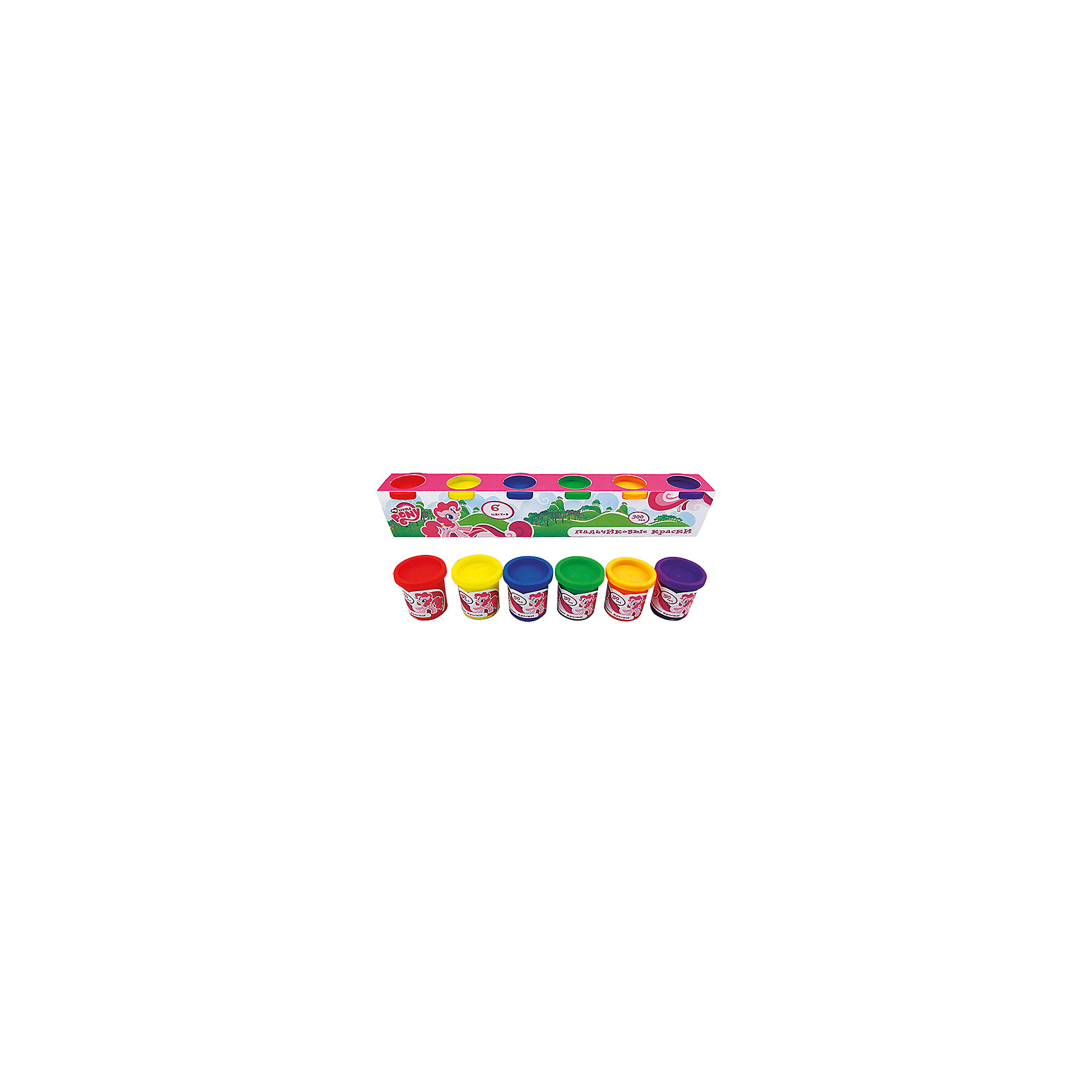 Набор пальчиковых красок, 6 цветов, My little PonyНабор пальчиковых красок, 6 цветов, My little Pony (Мой маленький Пони) идеально подходит даже для самых маленьких и предназначен специально для рисования пальцами, поэтому краски абсолютно безвредны для кожи и не вызывают аллергических реакций. Пока малыши не научились пользоваться кисточками, они могут рисовать пальчиками, смешивать цвета и стараться аккуратно закрашивать контуры. Краска каждого цвета хранится в отдельной пластиковой баночке. Их использование развивает тактильные ощущения, цветовое восприятие, зрительную память, творческое мышление, тренирует мелкую моторику, положительно влияет на настроение детей. <br><br>Комплектация: баночки с краской 6 шт.<br><br>Дополнительная информация:<br>-Серия: Мой маленький Пони<br>-Вес в упаковке: 440 г<br>-Размеры в упаковке: 330х60х50 мм<br>-Материалы: пластик, краски<br><br>Пальчиковые краски – это один из самых удачных способов занять малыша и подарить ему настоящую радость!<br><br>Набор пальчиковых красок, 6 цветов, My little Pony (Мой маленький Пони) можно купить в нашем магазине.<br><br>Ширина мм: 330<br>Глубина мм: 60<br>Высота мм: 50<br>Вес г: 440<br>Возраст от месяцев: 12<br>Возраст до месяцев: 48<br>Пол: Женский<br>Возраст: Детский<br>SKU: 4079300