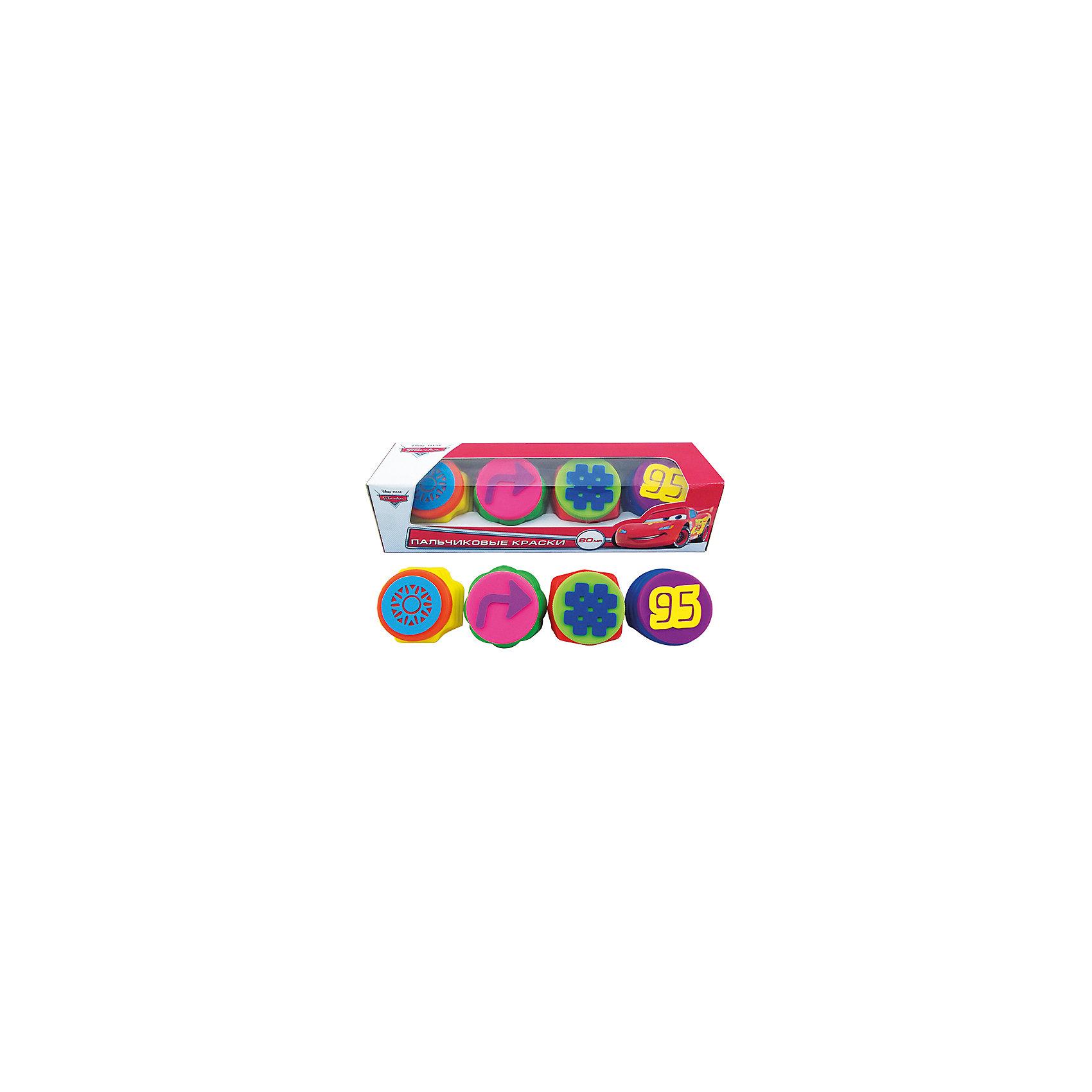 Набор пальчиковых красок с печатями, 4 цвета, ТачкиТворчество для малышей<br>Замечательный Набор пальчиковых красок с печатями, 4 цвета, Тачки – незаменимый предмет для творческого развития малышей. С помощью этого набора малыши могут рисовать не только пальчиками, но и использовать печати, которые прикреплены к крышечкам баночек. Пальчиковые краски хорошо накладываются на любую поверхность, смешиваются и легко смываются с рук и одежды. Их использование развивает тактильные ощущения, цветовое восприятие, зрительную память, творческое мышление, тренирует мелкую моторику, положительно влияет на настроение детей.<br><br>Комплектация: 4 баночки с красками по 20 мл, 4 печати<br><br>Дополнительная информация:<br>-Серия: Тачки<br>-Вес в упаковке: 260 г<br>-Размеры в упаковке: 280х80х80 мм<br>-Материалы: пластик, краски<br><br>Пальчиковые краски – это один из самых удачных способов занять малыша и подарить ему настоящую радость!<br><br>Набор пальчиковых красок с печатями, 4 цвета, Тачки можно купить в нашем магазине.<br><br>Ширина мм: 280<br>Глубина мм: 80<br>Высота мм: 80<br>Вес г: 260<br>Возраст от месяцев: 12<br>Возраст до месяцев: 48<br>Пол: Мужской<br>Возраст: Детский<br>SKU: 4079303