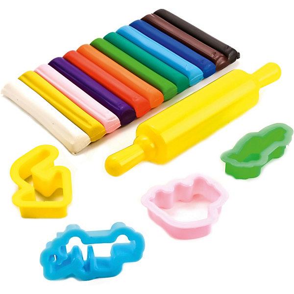 Набор пластилина с формочками, 12 цветов, ТачкиТачки<br>Набор пластилина с формочками, 12 цветов, Тачки состоит из 12 брусочков разноцветного пластилина, 4 формочек различной формы и скалки для раскатки пластилина. Работа с пластилином будет стимулировать развитие творческих способностей и воображения, мелкой моторики, способствовать развитию мышц рук, тренировать внимательность, аккуратность, способствовать самовыражению. Машинки из любимого диснеевского мультфильма «Тачки», изображенные на упаковке, вдохновят малыша на создание своих первых шедевров!<br><br>Характеристики:<br>-Яркие и насыщенные цвета <br>-Каждый кусочек помещен в персональную упаковку, что не дает пластилину разных цветов смешиваться и высыхать<br>-Пластилин нетоксичен, не прилипает к рукам <br><br>Комплектация: пластилин 12 цветов, формочки 4 шт., скалка<br><br>Дополнительная информация:<br>-Серия: Тачки<br>-Вес в упаковке: 240 г<br>-Размеры в упаковке: 190х300х30  мм<br>-Материалы: пластик, масса для лепки<br><br>Лучший подарок для Вашего ребенка – это набор пластилина с формочками, который будет способствовать разностороннему развитию малыша! <br><br>Набор пластилина с формочками, 12 цветов, Тачки можно купить в нашем магазине.<br>Ширина мм: 190; Глубина мм: 300; Высота мм: 30; Вес г: 240; Возраст от месяцев: 36; Возраст до месяцев: 84; Пол: Мужской; Возраст: Детский; SKU: 4079308;