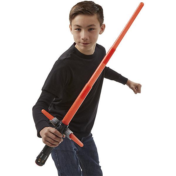Световой Меч Кайло Рен, Звёздные войныИгрушки<br>Световой меч Кайло Рена станет желанным подарком для всех поклонников Star Wars. Нажатием кнопки и легким движением руки  световой меч раздвигается, при этом меч будет издавать реалистичные звуки, как в фильме. В комплекте есть переходник, с помощью которого можно создавать любые комбинации световых мечей, соединяя между собой другие модели (продаются отдельно). Совместим со всеми мечами из новой коллекции. Игрушка выполнена из высококачественного прочного, нетоксичного пластика абсолютно безопасного для детей. <br><br>Дополнительная информация:<br><br>- Материал: пластик.<br>- Размер лезвия: 55 см.<br>- Световые, звуковые эффекты.<br>- Элемент питания: 2 АА батарейки (в комплекте демонстрационные).<br><br>Световой Меч Кайло Рена, Звёздные войны (Star Wars), можно купить в нашем магазине.<br>Ширина мм: 517; Глубина мм: 205; Высота мм: 63; Вес г: 628; Возраст от месяцев: 48; Возраст до месяцев: 96; Пол: Мужской; Возраст: Детский; SKU: 4079551;