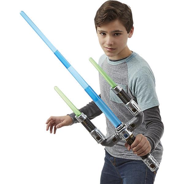 Электронный именной меч, Звездные войныИгрушки<br>Легендарный Электронный именной меч, Звездные войны, как у справедливых джедаев и грозных ситхов, теперь может пополнить коллекцию игрушек Вашего ребенка! И впервые дети могут создать свой собственный световой меч из Звездных войн благодаря большому количеству дополнительных аксессуаров. При нажатии на специальную кнопку меч начинает светиться, что создает ощущение настоящего светового меча из фильма.  Особенно этот эффект заметен в темноте. Меч издает и особые звуковые эффекты – будто вы размахиваете настоящим оружием из «Звездных войн». <br><br>Дополнительная информация:<br>-Материалы: пластик<br>-Работает от батареек типа 3хАА (входят в комплект)<br><br>С Электронным именным мечом, Звездные войны Ваш ребенок легко вообразит себя настоящим джедаем, готовым бороться с силами тьмы!<br><br>Электронный именной меч, Звездные войны можно купить в нашем магазине.<br><br>Ширина мм: 615<br>Глубина мм: 307<br>Высота мм: 66<br>Вес г: 1132<br>Возраст от месяцев: 48<br>Возраст до месяцев: 96<br>Пол: Мужской<br>Возраст: Детский<br>SKU: 4079554