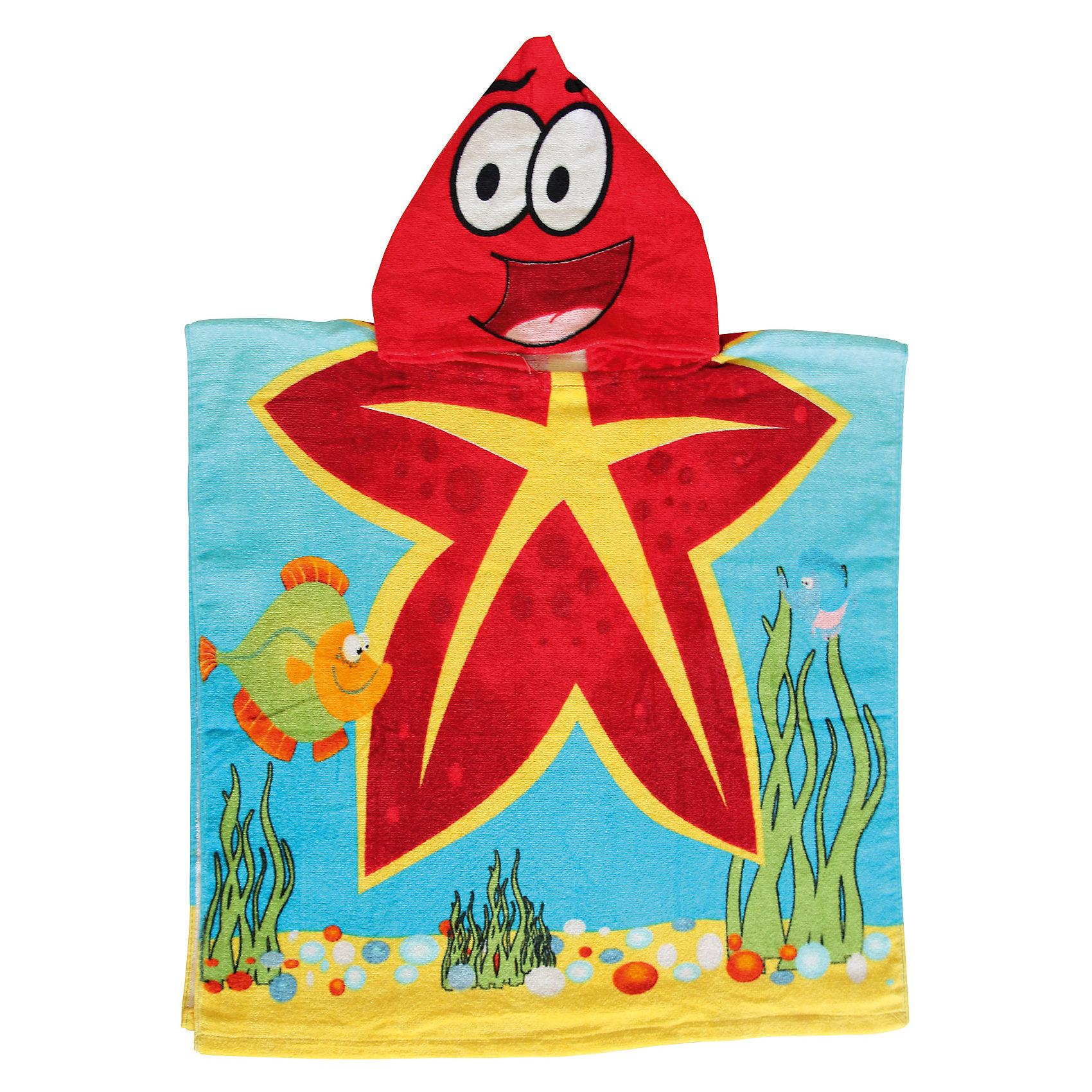 Пляжное полотенце-пончо Морская звезда 60*120 см