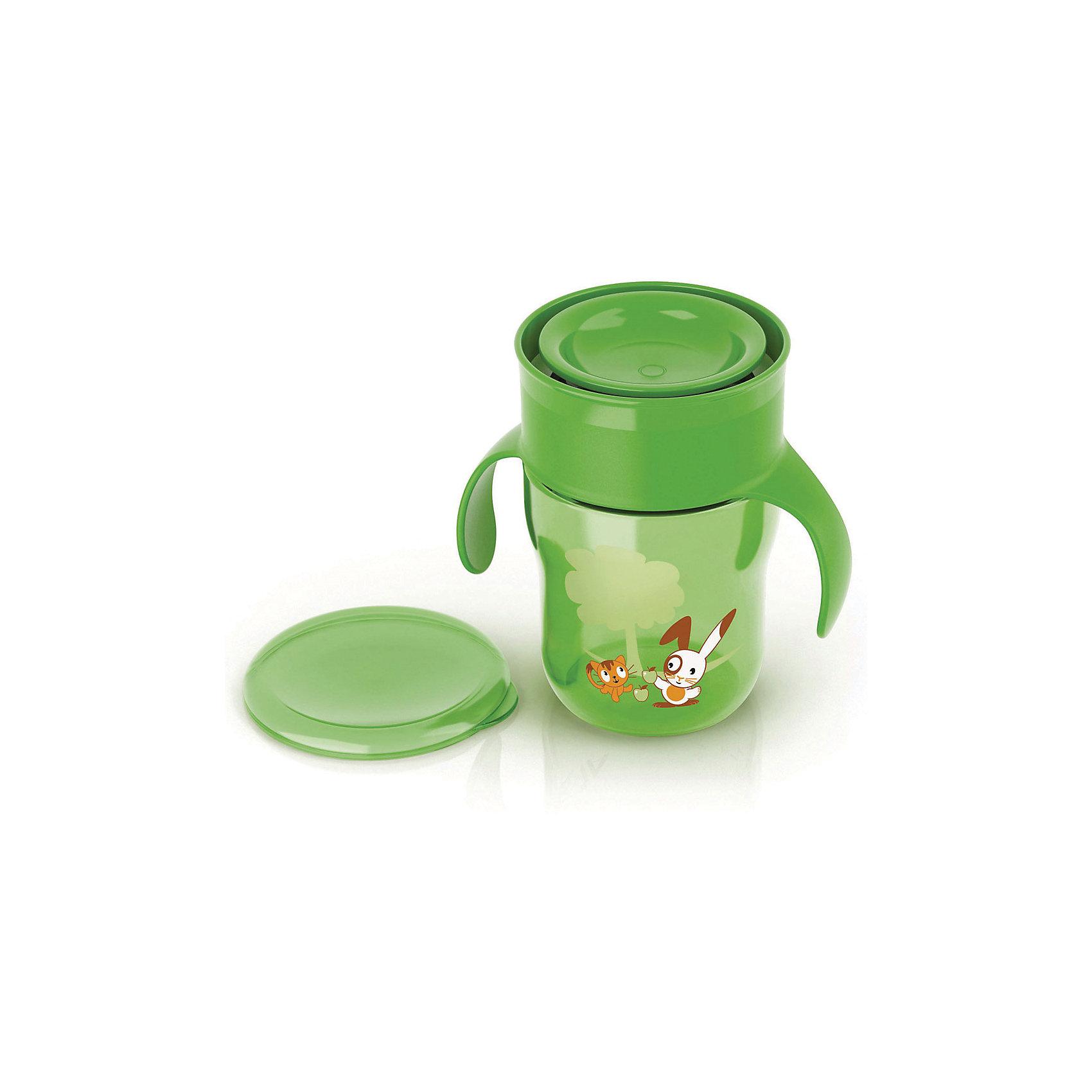 Поильник-чашка , 260мл, AVENT, зеленыйПоильник-чашка 260мл - инновационная чашка от Philips AVENT (Авент), которая поможет Вашему малышу легко и играючи перейти на использование обычной чашки без носика и трубочки. Кроме того, кружка-поильник удобна для использования в любом транспорте и позволит сохранить в чистоте одежду малыша и салон автомобиля.<br>Уникальный клапан с защитой от протекания — передовое решение, специально разработанное экспертами Philips AVENT (Авент). Клапан реагирует на прикосновение губ, обеспечивая удобство питья для ребенка и исключая проливание напитка.<br>Обучающие ручки приучают малыша держать чашку и пить без посторонней помощи.<br>Дополнительная информация:<br>- В  комплекте кружка-поильник с защитным клапаном и обучающими ручками, крышка - 1 шт.<br>- Клапан с быстрым потоком позволяет малышу пить, не прилагая лишних усилий, не всасывая жидкость. Идеально для малышей старше года.<br>- Не содержит бисфенол-А.<br>- Можно мыть в посудомоечной машине.<br>- Кружка-поильник не предназначена для приготовления пищи, а также  для горячих и шипучих напитков.<br>Поильник-чашку , 260мл, AVENT в зеленом цвете можно купить в нашем интернет-магазине.<br><br>Ширина мм: 150<br>Глубина мм: 70<br>Высота мм: 70<br>Вес г: 250<br>Цвет: зеленый<br>Возраст от месяцев: 6<br>Возраст до месяцев: 24<br>Пол: Унисекс<br>Возраст: Детский<br>SKU: 4079882