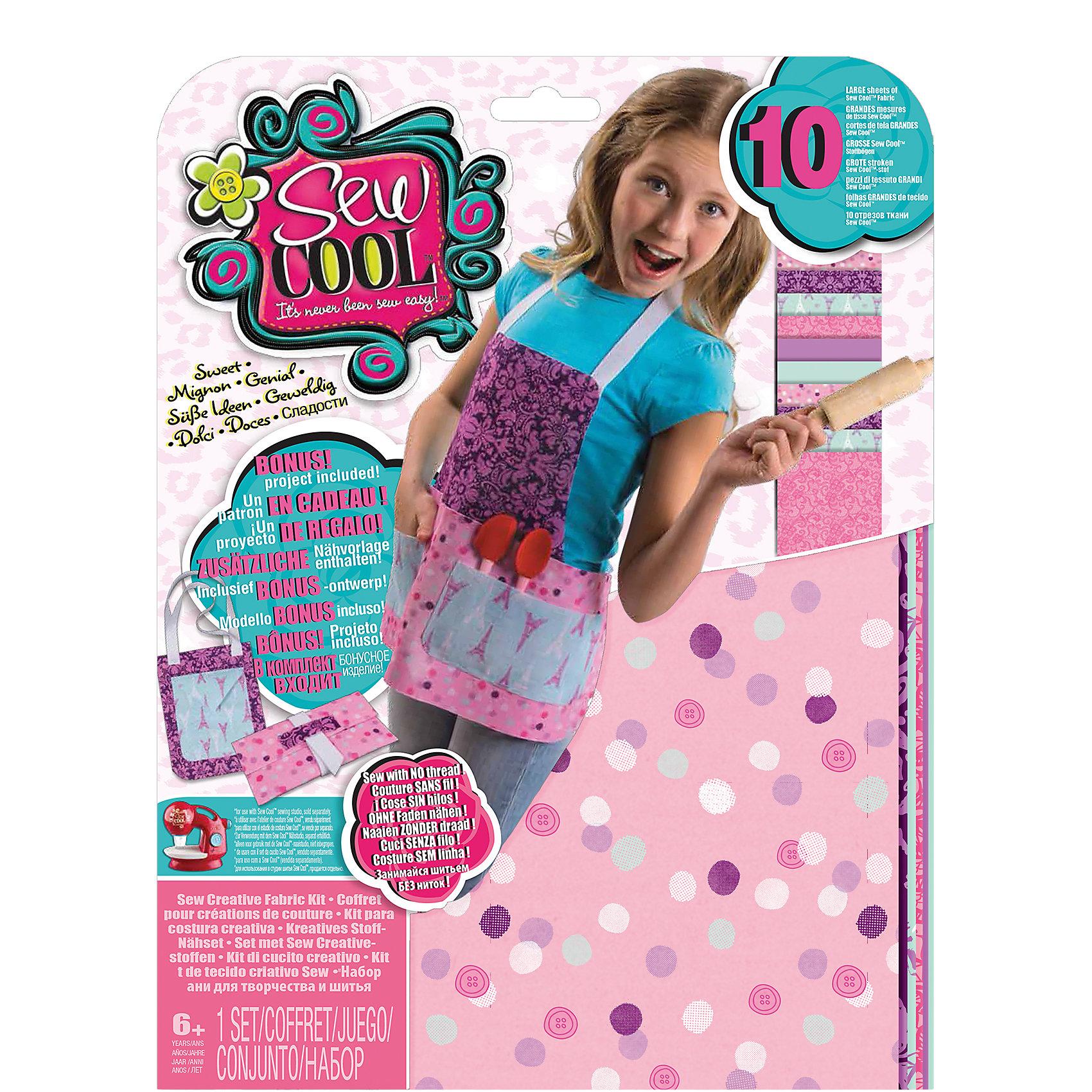 Набор для создания собственных дизайнов  Sew CoolРукоделие<br>Набор для создания собственных дизайнов Sew Cool (Сью кул)<br><br>Характеристики:<br><br>• можно создать рюкзачок или фартук<br>• схемы в комплекте<br>• размер упаковки: 30,5х22,5х2 см<br>• вес: 210 грамм<br>• в комплекте: 10 тканевых элементов, тесьма, выкройки, инструкция<br><br>С помощью набора от Sew Cool девочка сможет почувствовать себя настоящим дизайнером. В комплект входят несколько элементов ткани, тесьма, из которых можно создать рюкзачок или фартук. Инструкция и схемы подскажут как сделать это правильно. Проявив фантазию, ребенок сможет сам придумать новое изделие!<br><br>Набор для создания собственных дизайнов Sew Cool (Сью кул) вы можете купить в нашем интернет-магазине.<br><br>Ширина мм: 312<br>Глубина мм: 238<br>Высота мм: 35<br>Вес г: 207<br>Возраст от месяцев: 72<br>Возраст до месяцев: 120<br>Пол: Женский<br>Возраст: Детский<br>SKU: 4080693