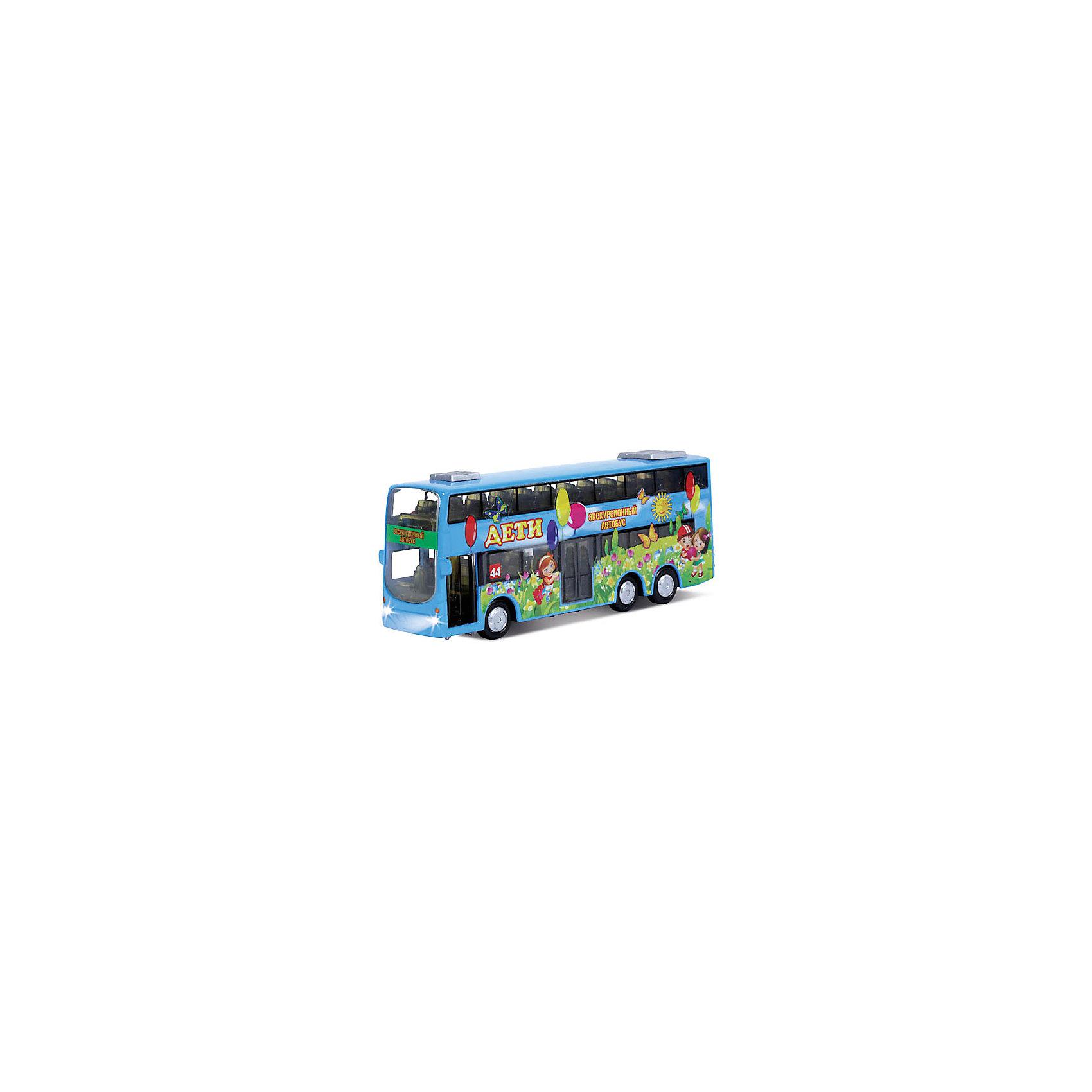 ТЕХНОПАРК Двухэтажный автобус Дети, со светом и звуком, ТЕХНОПАРК проездные на автобус где в москве