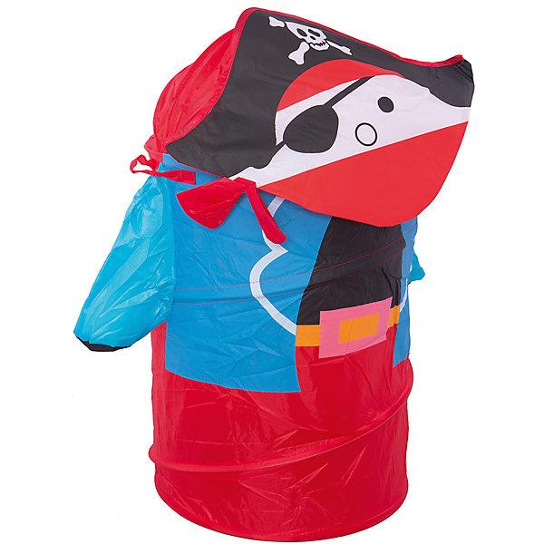 Корзина для игрушек ПиратКорзины для игрушек<br>Корзина для игрушек Пират – эта функциональная корзина для хранения игрушек очень удобна и практична.<br>Яркая и вместительная корзина для хранения игрушек Пират украсит интерьер детской комнаты. Эта забавная корзина поможет сделать процесс уборки игрушек более увлекательным и приучит ребёнка к порядку и аккуратности. Выполнена из лёгкого и плотного материала, прочная, легко стирается и проста в сборке, каркас – металлическая пружинная вставка, хорошо держащая форму. Корзина очень удобная, легкая и не занимает много места. Крышка закрывается на «липучку». Для удобства предусмотрены ручки, за которые можно переносить корзину.<br><br>Дополнительная информация:<br><br>- Цвет: красный, синий, черный<br>- Размер: 43х60 см.<br><br>Корзина для игрушек Пират - теперь всем игрушкам найдется место.<br><br>Корзину для игрушек Пират можно купить в нашем интернет-магазине.<br>Ширина мм: 450; Глубина мм: 10; Высота мм: 10; Вес г: 584; Возраст от месяцев: 36; Возраст до месяцев: 96; Пол: Мужской; Возраст: Детский; SKU: 4083121;