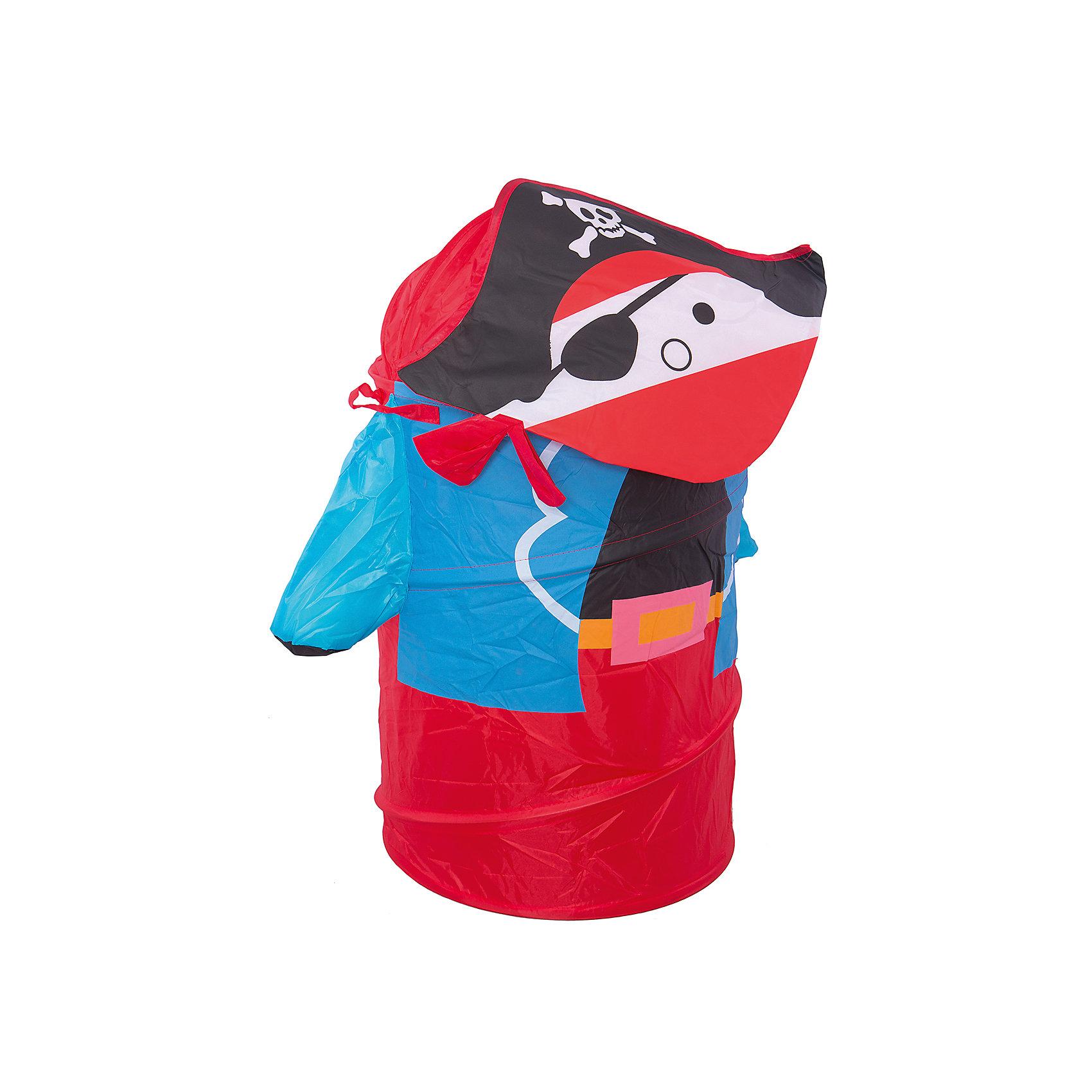 Корзина для игрушек ПиратКорзина для игрушек Пират – эта функциональная корзина для хранения игрушек очень удобна и практична.<br>Яркая и вместительная корзина для хранения игрушек Пират украсит интерьер детской комнаты. Эта забавная корзина поможет сделать процесс уборки игрушек более увлекательным и приучит ребёнка к порядку и аккуратности. Выполнена из лёгкого и плотного материала, прочная, легко стирается и проста в сборке, каркас – металлическая пружинная вставка, хорошо держащая форму. Корзина очень удобная, легкая и не занимает много места. Крышка закрывается на «липучку». Для удобства предусмотрены ручки, за которые можно переносить корзину.<br><br>Дополнительная информация:<br><br>- Цвет: красный, синий, черный<br>- Размер: 43х60 см.<br><br>Корзина для игрушек Пират - теперь всем игрушкам найдется место.<br><br>Корзину для игрушек Пират можно купить в нашем интернет-магазине.<br><br>Ширина мм: 450<br>Глубина мм: 10<br>Высота мм: 10<br>Вес г: 584<br>Возраст от месяцев: 36<br>Возраст до месяцев: 96<br>Пол: Мужской<br>Возраст: Детский<br>SKU: 4083121