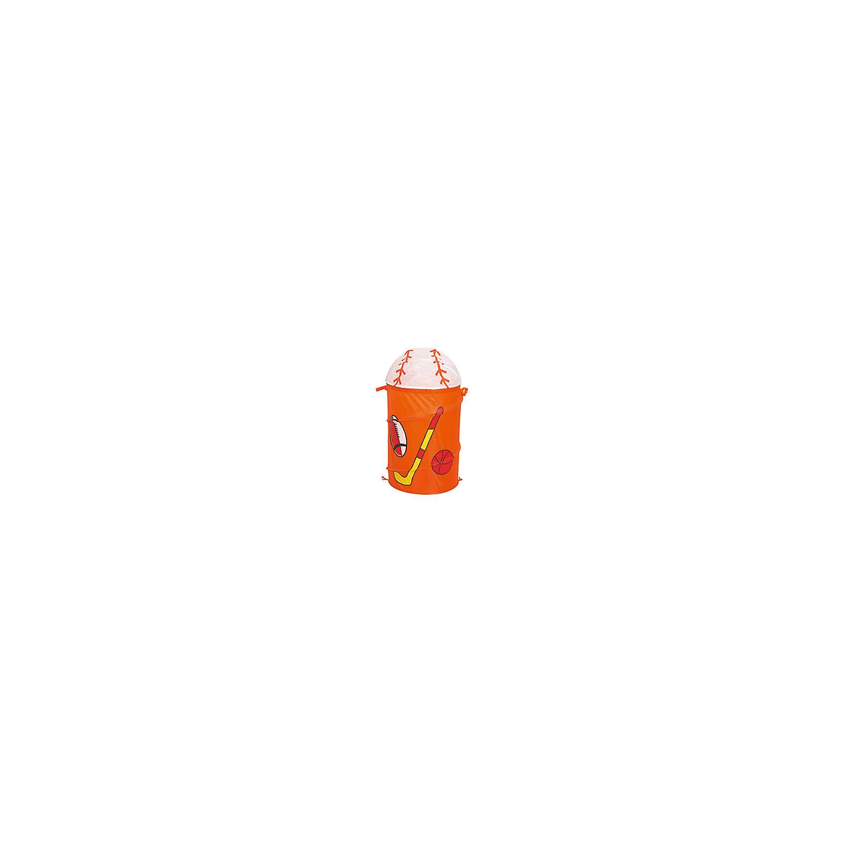 Оранжевая корзина для игрушек «Спорт»