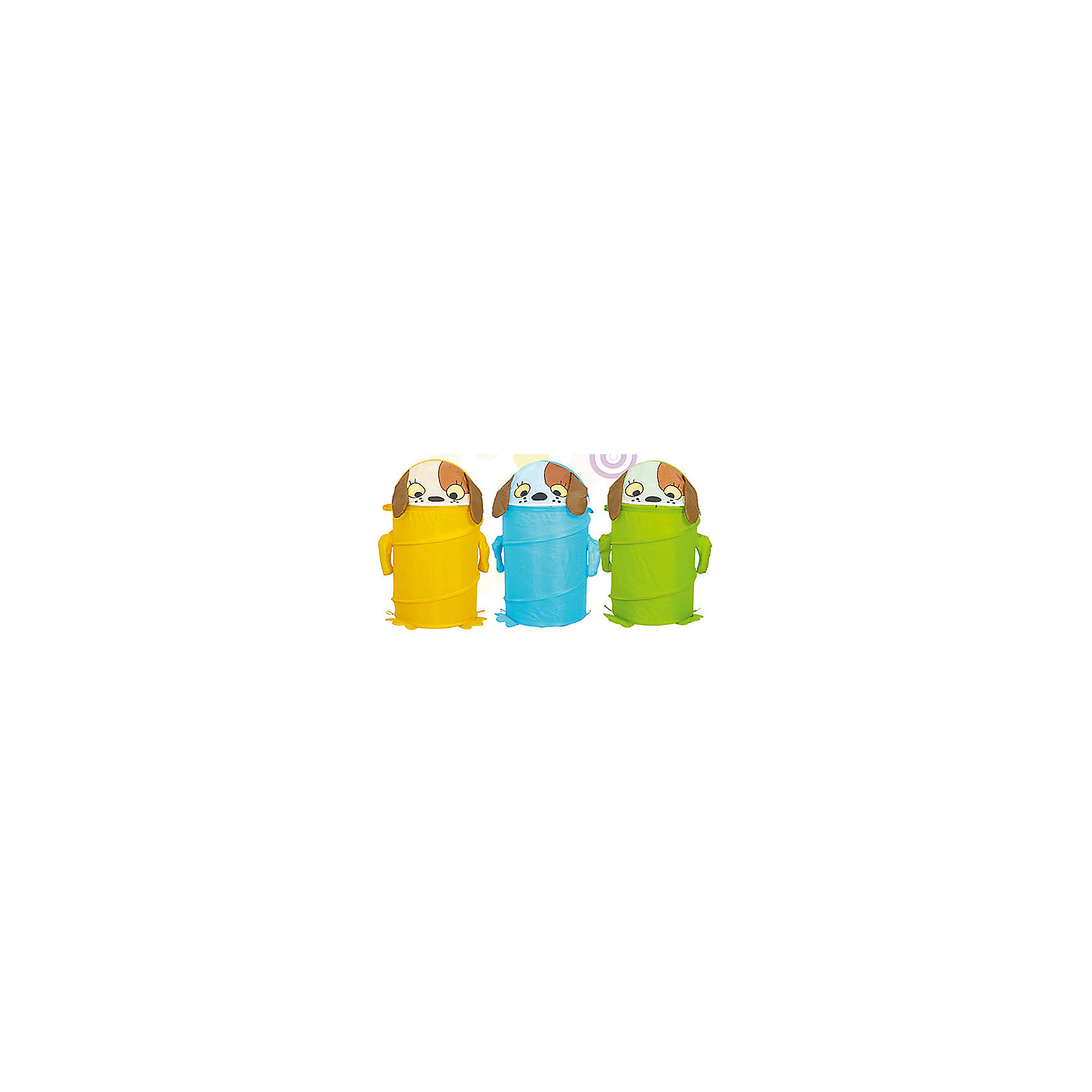 Корзина для игрушек Щенок (в ассортименте)Корзина для игрушек Щенок (в ассортименте) – эта функциональная корзина для хранения игрушек очень удобна и практична.<br>Яркая и вместительная корзина для хранения игрушек Щенок украсит интерьер детской комнаты. Эта забавная корзина поможет сделать процесс уборки игрушек более увлекательным и приучит ребёнка к порядку и аккуратности. Выполнена из лёгкого и плотного материала, прочная, легко стирается и проста в сборке, каркас – металлическая пружинная вставка, хорошо держащая форму. Корзина очень удобная, легкая и не занимает много места. Крышка закрывается на «липучку». Для удобства предусмотрены ручки, за которые можно переносить корзину.<br><br>Дополнительная информация:<br><br>- Цвет в ассортименте<br>- Размер: 43х60 см.<br>- ВНИМАНИЕ! Данный товар представлен в ассортименте. К сожалению, предварительный выбор невозможен. При заказе нескольких единиц данного товара, возможно получение одинаковых<br><br>Корзина для игрушек Щенок (в ассортименте) - теперь всем игрушкам найдется место.<br><br>Корзину для игрушек Щенок (в ассортименте) можно купить в нашем интернет-магазине.<br><br>Ширина мм: 450<br>Глубина мм: 10<br>Высота мм: 10<br>Вес г: 538<br>Возраст от месяцев: 36<br>Возраст до месяцев: 96<br>Пол: Унисекс<br>Возраст: Детский<br>SKU: 4083128