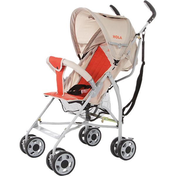 Коляска-трость Baby Care Hola, серый/оранжевыйКоляски-трости<br>Baby Care Hola – супер легкая коляска-трость. Отличный выбор для летних прогулок или поездки на отдых. Коляска очень компактно складывается. Ее можно взять с собой на самолет, она не займет много места в автомобиле.Hola чрезвычайно маневренна. Передние колеса поворотные, но их можно фиксировать для езды по прямой. Для удобства переноски коляска оснащена плечевым ремешком. Основные преимущества коляски – сверхлегкий вес и эргономичность. Ее можно переносить мизинцем. В данной модели сохранен только необходимый функционал. Спинка может раскладываться в двух положениях, а капюшон, несмотря на небольшой размер, хорошо защищает от ультрафиолета и легких осадков. Колеса выполнены из мягкой вспененной резины (пеноплена) и прекрасно гасят вибрации.<br><br>Дополнительная информация:<br><br>Размеры в сложенном виде - 24x87x23 см<br>Размеры упаковки - 107x25x30 см<br>Ширина колесной базы - 45 см.<br>Размеры: ширина сидения – 30 см, глубина сидения – 21 см, высота спинки - 43 см, высота сидения от пола - 35 см, длина спального места – 65 см.<br>Вес: 5,1 кг<br>Диаметр колес: 13 см<br><br>Коляску-трость Hola, Baby Care, цвет серый/оранжевый можно купить в нашем магазине.<br><br>Ширина мм: 1070<br>Глубина мм: 250<br>Высота мм: 300<br>Вес г: 6000<br>Возраст от месяцев: 6<br>Возраст до месяцев: 36<br>Пол: Унисекс<br>Возраст: Детский<br>SKU: 4083353