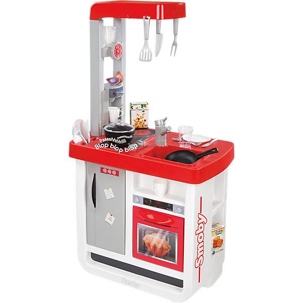 Кухня Bon Appetit, SmobyДетские кухни<br>Характеристики:<br><br>• состав: плита, духовка, кофеварка, раковина;<br>• аксессуары: коробочки, тарелки, вилки, ложки, стаканчики, нож, лопатка;<br>• звуковые эффекты;<br>• материал: пластик;<br>• батарейки: CR2032 - 1 шт. (входит в комплект);<br>• размер кухни: 52х34х97 см;<br>• размер упаковки: 50х20х66 см;<br>• вес: 3,4 кг;<br>• страна производитель: Франция.<br><br>Кухня Bon Appetit позволит маленьким хозяюшкам научиться готовить, используя реалистичную плиту и посуду. Кухня состоит из плиты, духовки, раковины и кофеварки. Плита имеет современный вид и издает реалистичные звуки, чтобы процесс приготовления был еще увлекательнее.<br><br>В комплект входят аксессуары, необходимые каждой хозяйке: посуда, столовые приборы и прочая кухонная утварь. Аксессуары можно повесить на специальные крючки или разложить по полочкам для поддержания порядка.<br><br>Кухня Bon Appetit - отличный вариант для сюжетно-ролевых игр. Кроме того, она научит девочку обращаться с приборами и бытовой техникой. Для работы необходима одна батарейка CR2032 (входит в комплект).<br><br>Кухню Bon Appetit, Smoby (Смоби) можно купить в нашем интернет-магазине.<br><br>Ширина мм: 650<br>Глубина мм: 500<br>Высота мм: 210<br>Вес г: 4400<br>Возраст от месяцев: 36<br>Возраст до месяцев: 72<br>Пол: Женский<br>Возраст: Детский<br>SKU: 4084014