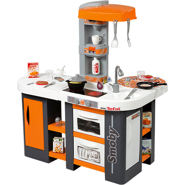 Кухня Cuisine Studio XL, со звуком, Tefal, SmobyДетские кухни<br>Характеристики:<br><br>• световые и звуковые эффекты;<br>• материал: пластик;<br>• аксессуары: 36 шт.;<br>• батарейки входят в комплект: 1хCR2032;<br>• размер кухни в собранном виде: 100х86х62 см;<br>• размер упаковки: 86х62х100 см.<br><br>Каждая девочка стремится подражать маме. Игрушечная кухня Tefal Cuisine Studio XL с реалистичными эффектами покажет девочке, что готовить еду интересно и увлекательно. Шипит суп на плите, жарится мясо, печется пирог. Светится варочная панель. На кухне имеется духовой шкаф, холодильник, посудомоечная машина. Чудо-сковородка для приготовления блинов покажет высшее мастерство их переворачивания. С такой кухней легко окунуться в увлекательный мир детства. <br><br>Кухню Cuisine Studio XL, со звуком, Tefal, Smoby можно купить в нашем магазине.<br><br>Ширина мм: 740<br>Глубина мм: 655<br>Высота мм: 260<br>Вес г: 8200<br>Возраст от месяцев: 36<br>Возраст до месяцев: 72<br>Пол: Женский<br>Возраст: Детский<br>SKU: 4084016