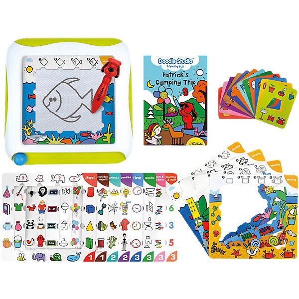 Доска для рисования с обучающими карточками, Ks KidsРазвивающие центры<br>Позаботьтесь о гармоничном развитии Вашего ребенка с развивающими игрушками K's Kids (Кис Кидс)! Игрушки K's Kids (Кис Кидс) создаются при участии психологов и экспертов по детскому развитию, чтобы дошкольники получали полезные навыки в форме увлекательных игр. Доска для рисования с обучающими карточками Ks Kids (Кис Кидс) - позволит малышам увлекательно проводить время и учиться рисовать. Эта замечательная доска прослужит Вам долго, ведь в ней множество заданий с разным уровнем сложности. Доска очень удобная и компактная, с ее помощью Ваш ребенок будет с пользой проводить время в дороге. Вы можете начинать делать простые упражнения с ребенком 2 лет, постепенно усложняя логические игры по мере освоения простых. Удобное пошаговое руководство расскажет родителям, как использовать красочные трафареты и карточки в обучающих целях. Доска для рисования - идеальное пособие для дошкольников, они научатся хорошо владеть ручкой, что существенно облегчит дальнейшее обучение письму. Доска для рисования Ks Kids (Кис Кидс) поможет развить творческие способности ребенка и весело проводить время.<br><br>Дополнительная информация: <br><br>- В комплекте: магнитная доска, 12 трафаретов, 12 обучающих карточек, ручка для рисования на магнитной доске, пошаговое руководство;<br>- Развивает зрительное восприятие, мелкую моторику, наглядно-образное мышление, память, воображение, творческие способности;<br>- Поможет научиться рисовать;<br>- Поэтапное обучение;<br>- Удобная ручка;<br>- Отличный подарок;<br>- Размер доски: 30 х 30 см;<br>- Размер упаковки: 44 х 7 х 37 см<br><br>Доску для рисования с обучающими карточками, Ks Kids (Кис Кидс) можно купить в нашем интернет-магазине.<br>Ширина мм: 440; Глубина мм: 70; Высота мм: 370; Вес г: 1280; Возраст от месяцев: 24; Возраст до месяцев: 60; Пол: Унисекс; Возраст: Детский; SKU: 4086649;