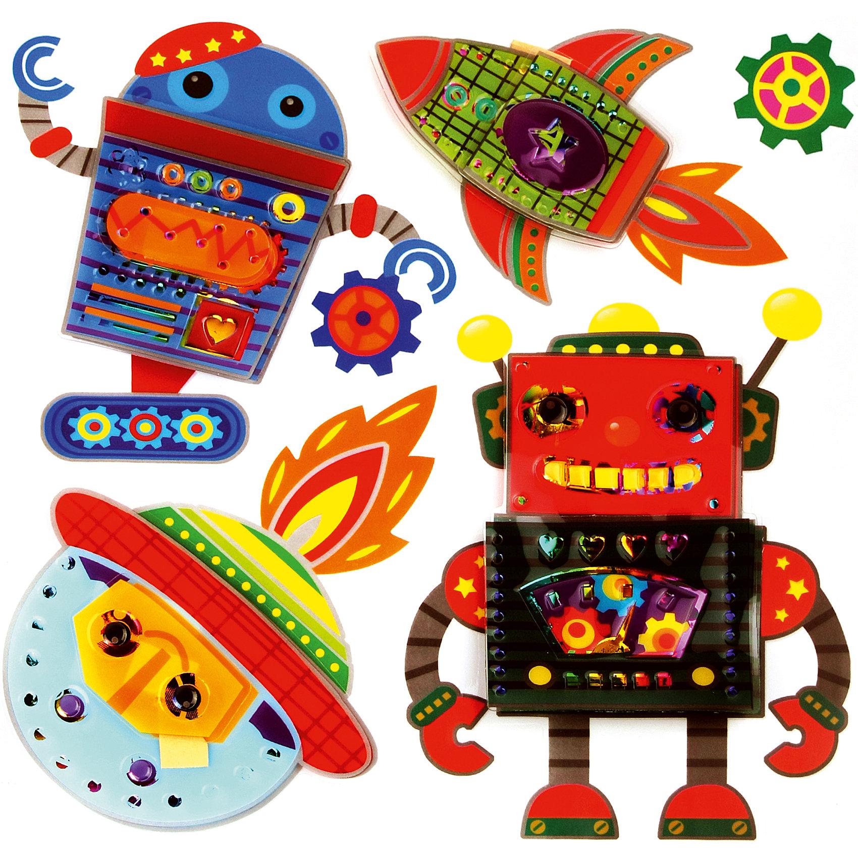 Декоративные наклейки Космос и роботыДекоративные наклейки Космос и роботы выполненные из ПВХ, на клеевой основе, станут прекрасным украшением любого помещения, оживят и дополнят интерьер комнаты.  Наклейки легко наклеиваются и снимаются, не оставляют следов на обоях и других поверхностях. <br><br>Дополнительная информация:<br><br>- Материал: ПВХ, клей. <br>- Размер: 30х39 см.<br><br>Декоративные наклейки Космос и роботы  можно купить в нашем магазине.<br><br>Ширина мм: 300<br>Глубина мм: 390<br>Высота мм: 10<br>Вес г: 81<br>Возраст от месяцев: 36<br>Возраст до месяцев: 2147483647<br>Пол: Мужской<br>Возраст: Детский<br>SKU: 4087304