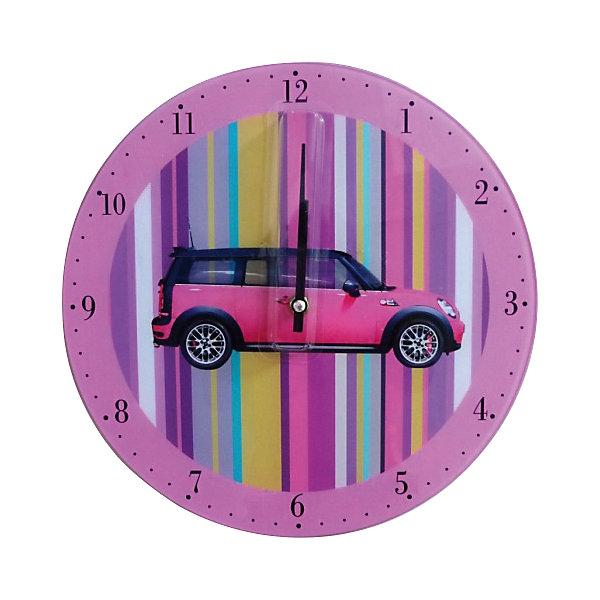 Настенные часы Автомобиль (стекло)Детские предметы интерьера<br>Настенные часы Автомобиль  станут прекрасным подарком на любой праздник. Кварцевые часы с циферблатом прекрасно впишутся в любой интерьер и обязательно порадуют своего владельца. <br><br>Дополнительная информация:<br><br>- Размер: 30х30см.<br>- Материал: стекло.<br>- Цвет: сиреневый.<br>- Без элемента питания.<br>- Кварцевые.<br><br>Настенные часы Автомобиль (стекло) можно купить в нашем магазине.<br>Ширина мм: 40; Глубина мм: 300; Высота мм: 300; Вес г: 725; Возраст от месяцев: 36; Возраст до месяцев: 2147483647; Пол: Женский; Возраст: Детский; SKU: 4087350;