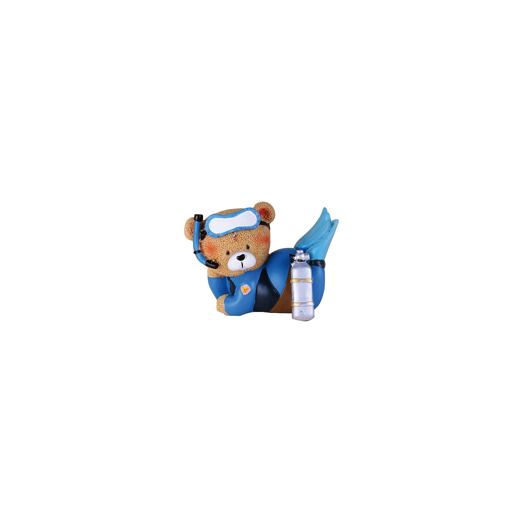 Феникс-Презент Декоративная фигурка Мишка-аквалангист декоративная фигурка феникс презент африканка с дочерьми высота 38 5 см